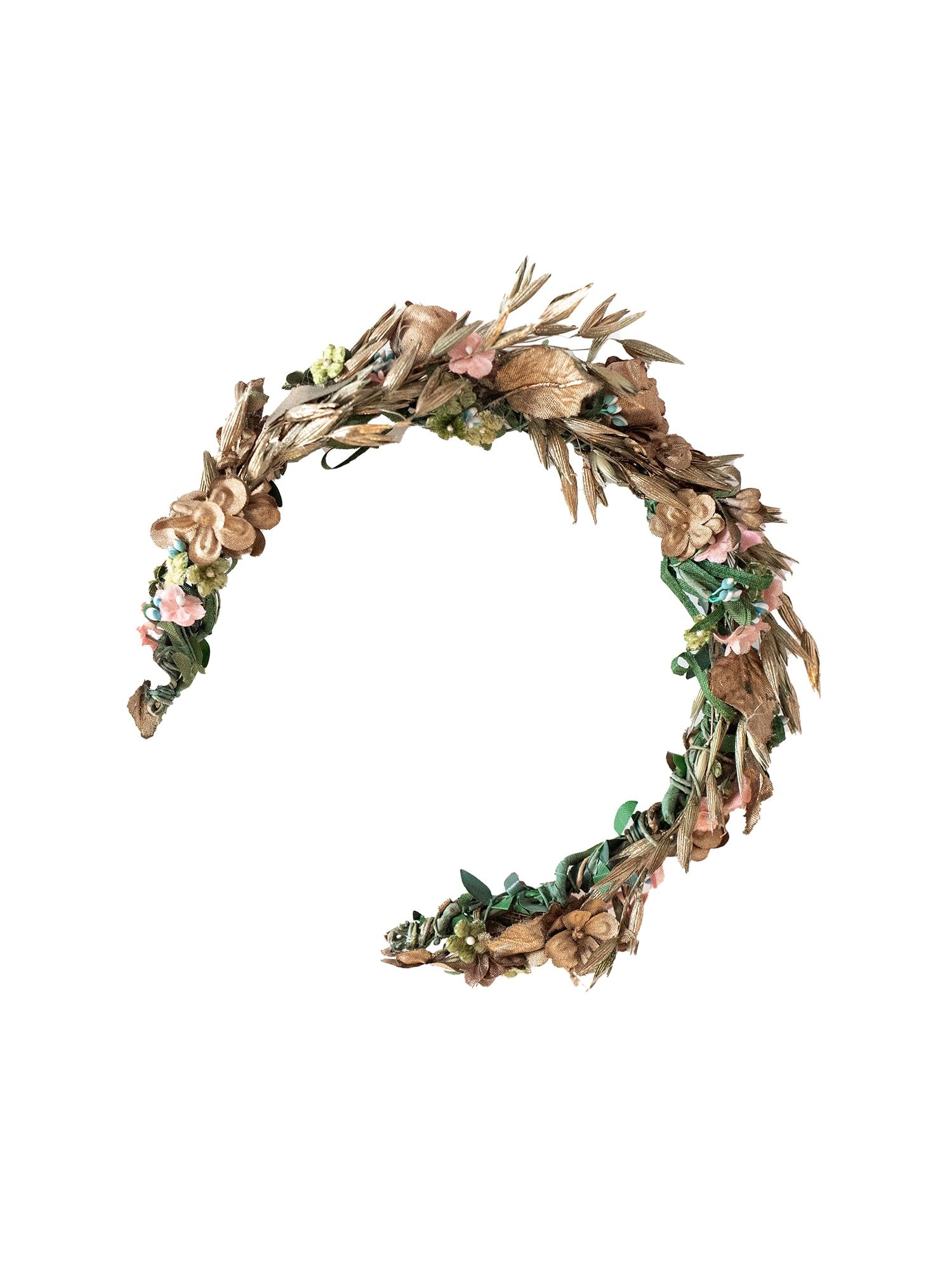 We Are Flowergirls Plaukų papuošalas 'Flowercrown Willow' mišrios spalvos / rožinė