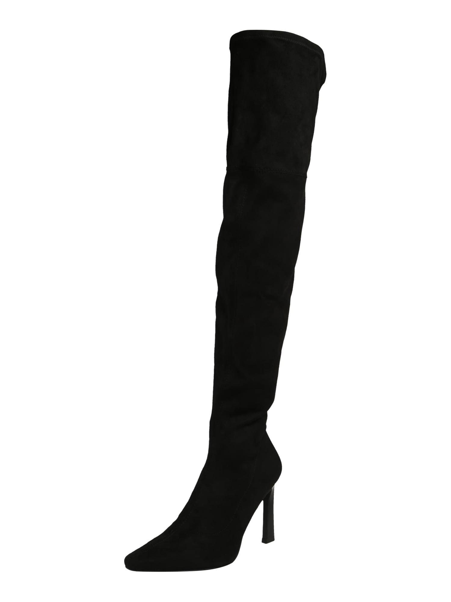 NA-KD Ilgaauliai batai virš kelių juoda