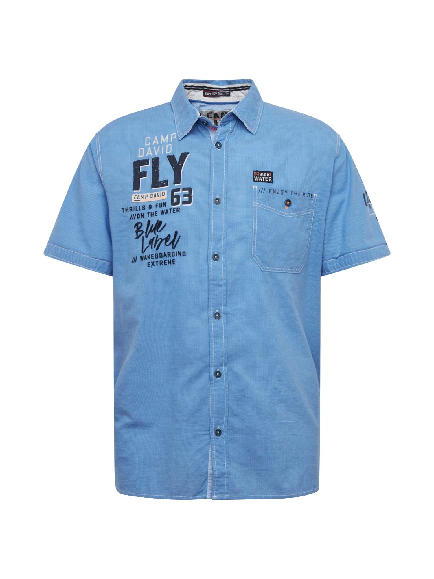CAMP DAVID Dalykiniai marškiniai tamsiai mėlyna / mėlyna