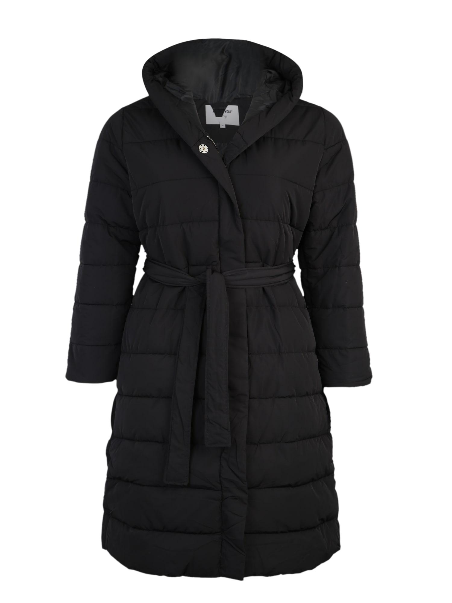 ABOUT YOU Curvy Žieminis paltas 'Chadia' juoda