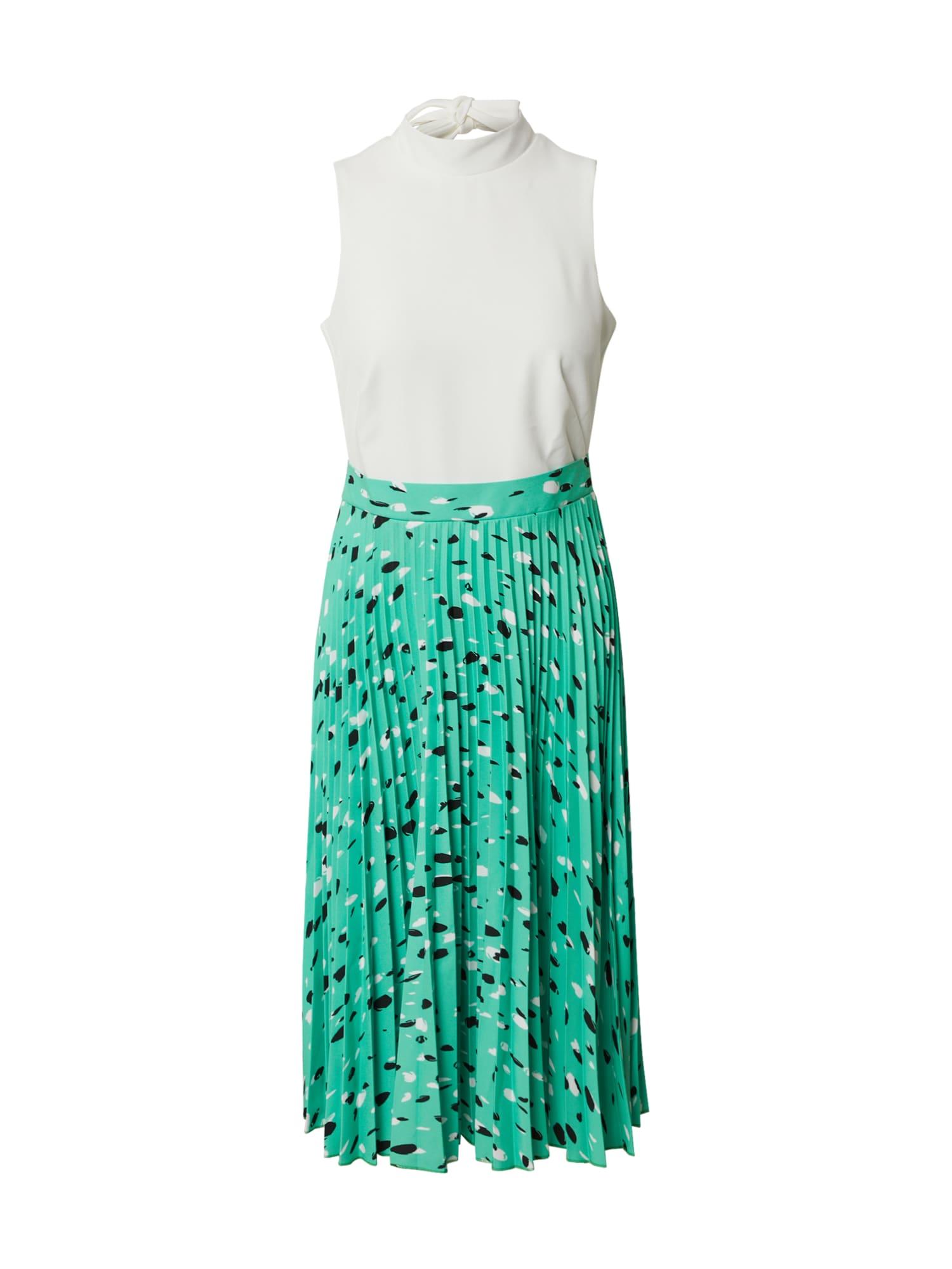 Closet London Suknelė šviesiai žalia / balta