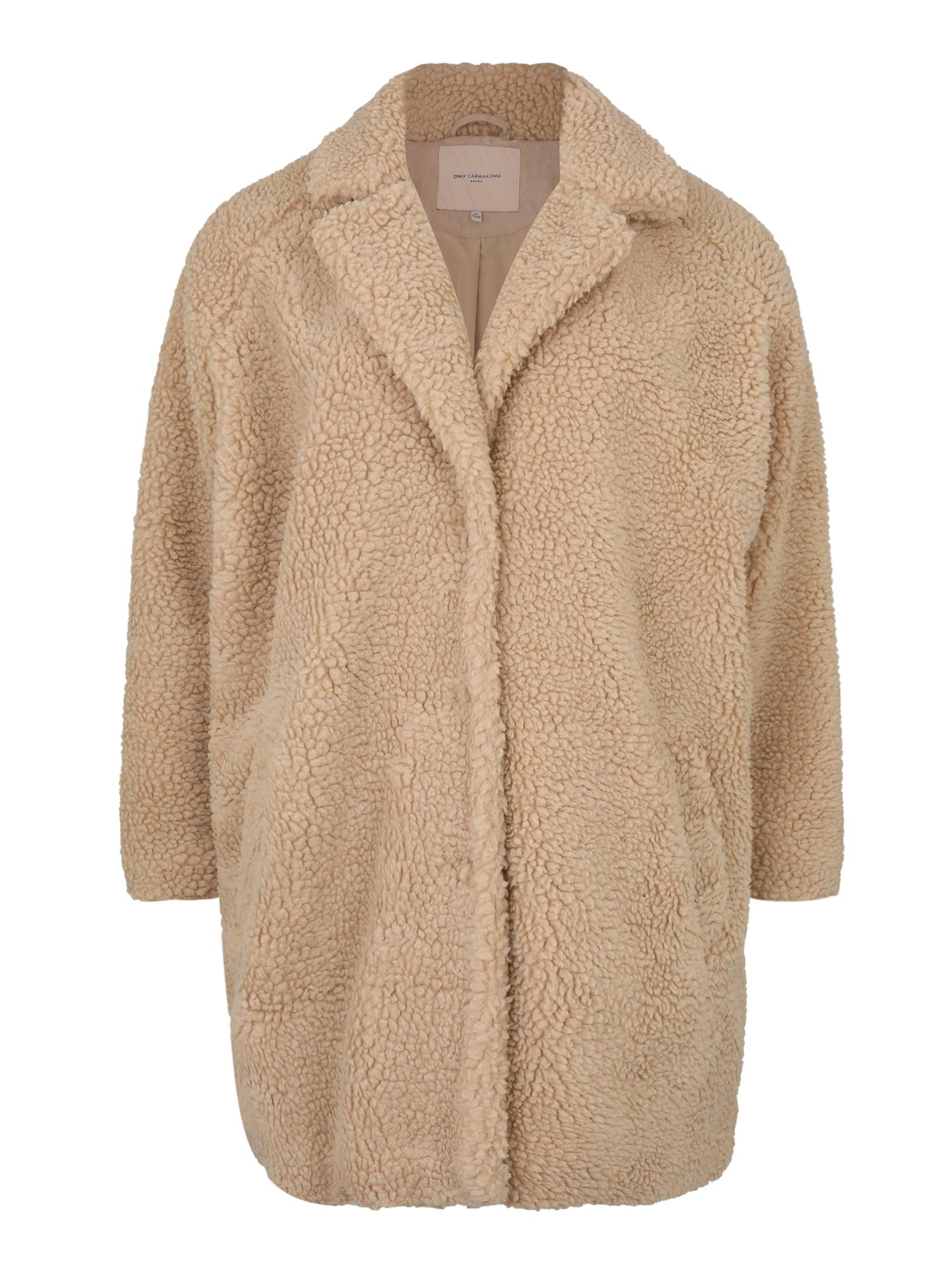 ONLY Carmakoma Rudeninis-žieminis paltas 'AURELIA' smėlio