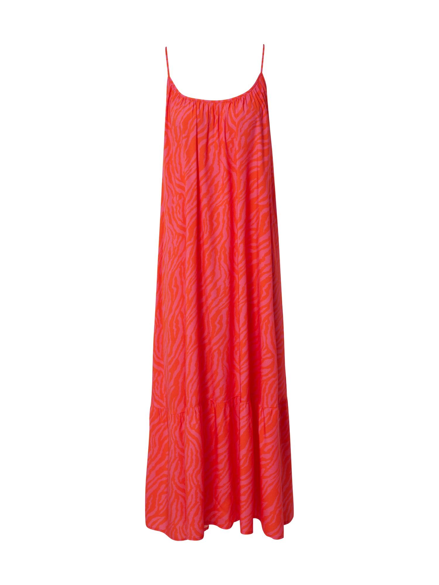 DELICATELOVE Vasarinė suknelė 'Stuff Zebra' rožinė