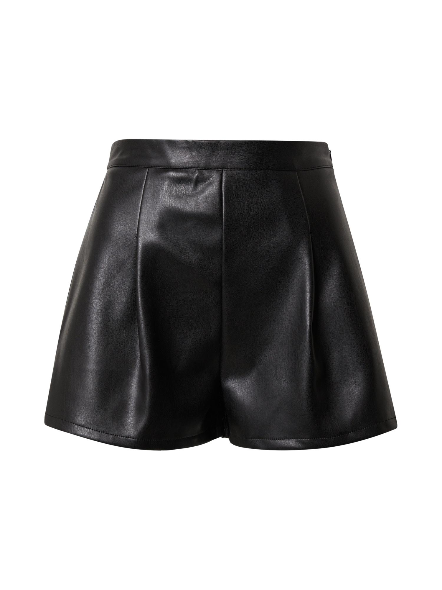 Missguided Pantaloni cutați 'FAUX'  negru