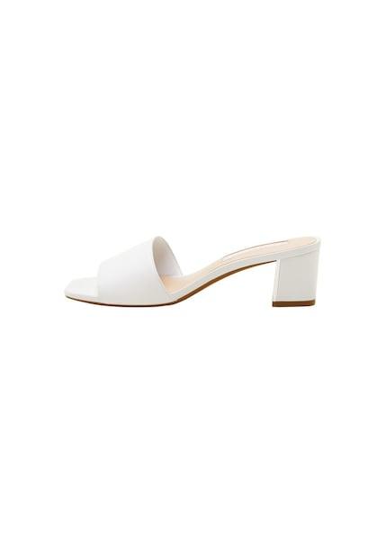 Sandalen für Frauen - MANGO Sandaletten 'Alghero1' weiß  - Onlineshop ABOUT YOU
