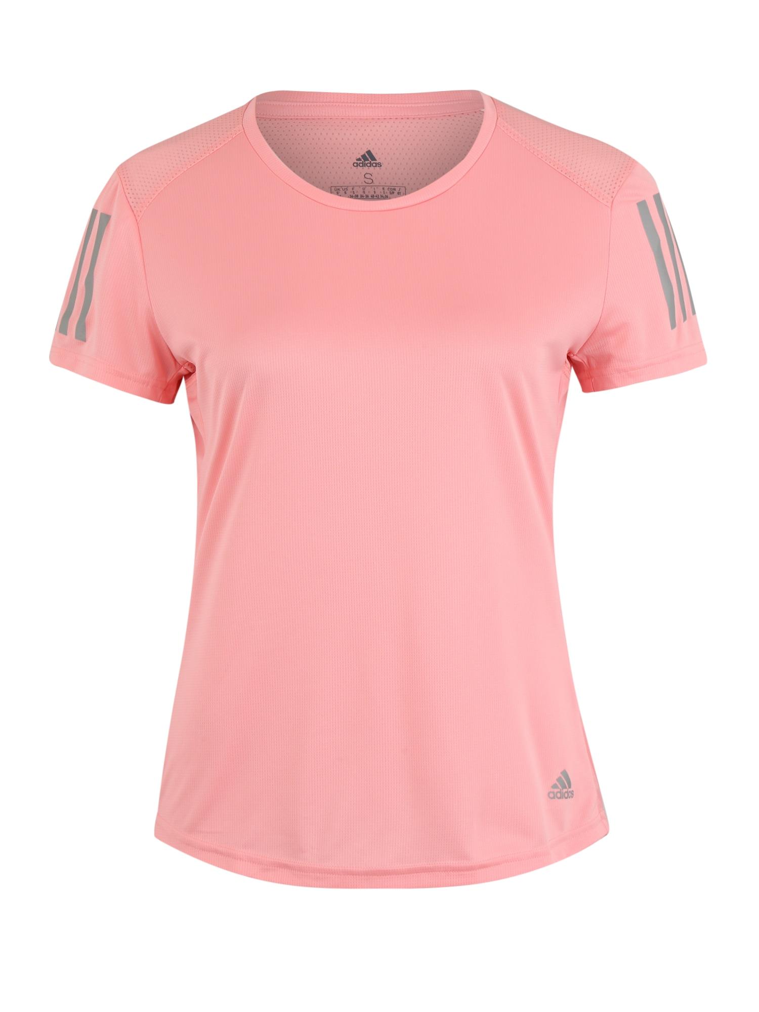 ADIDAS PERFORMANCE Sportiniai marškinėliai 'OWN THE RUN' rožių spalva