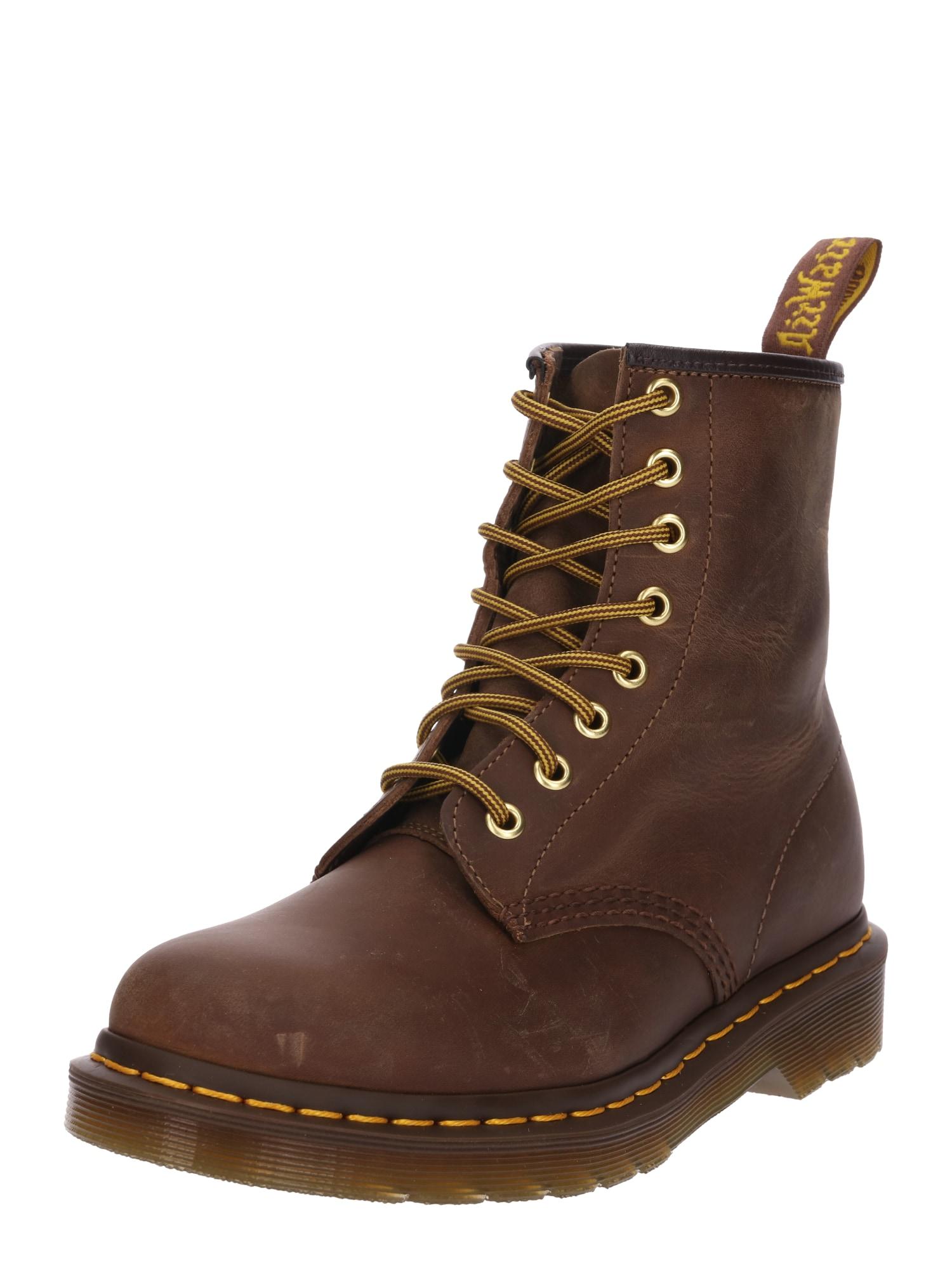 Šněrovací boty kaštanově hnědá Dr. Martens