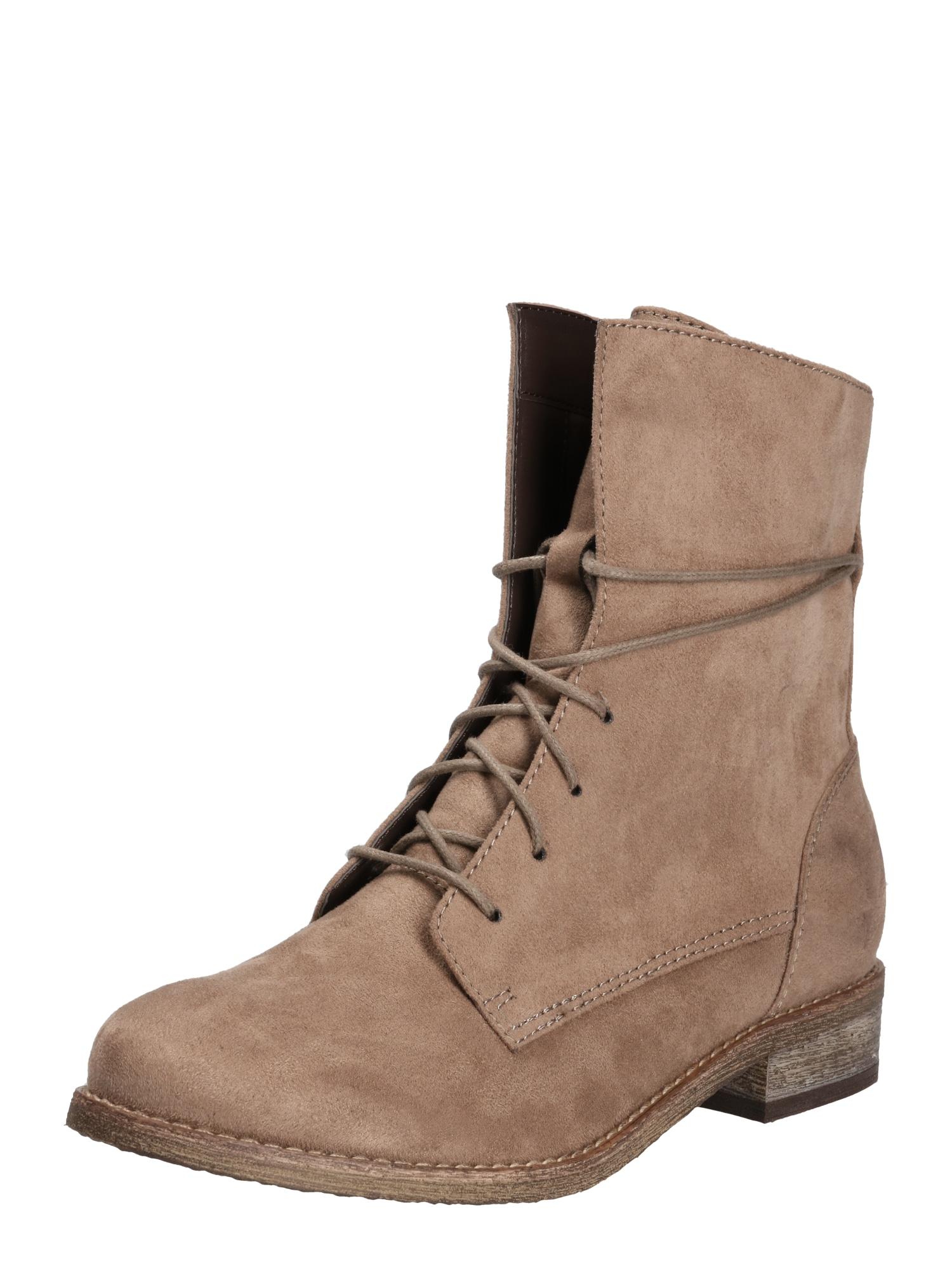 ABOUT YOU Suvarstomieji kulkšnis dengiantys batai 'Alexia' smėlio