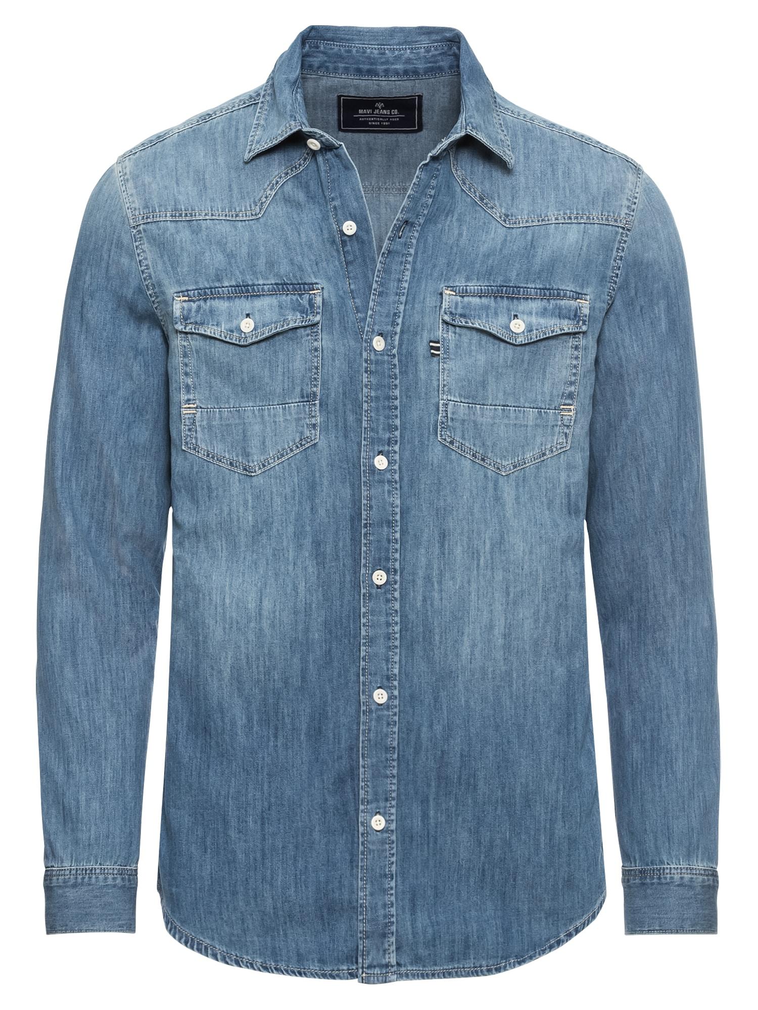 Mavi Dalykiniai marškiniai 'DENIM HEMD' mėlyna