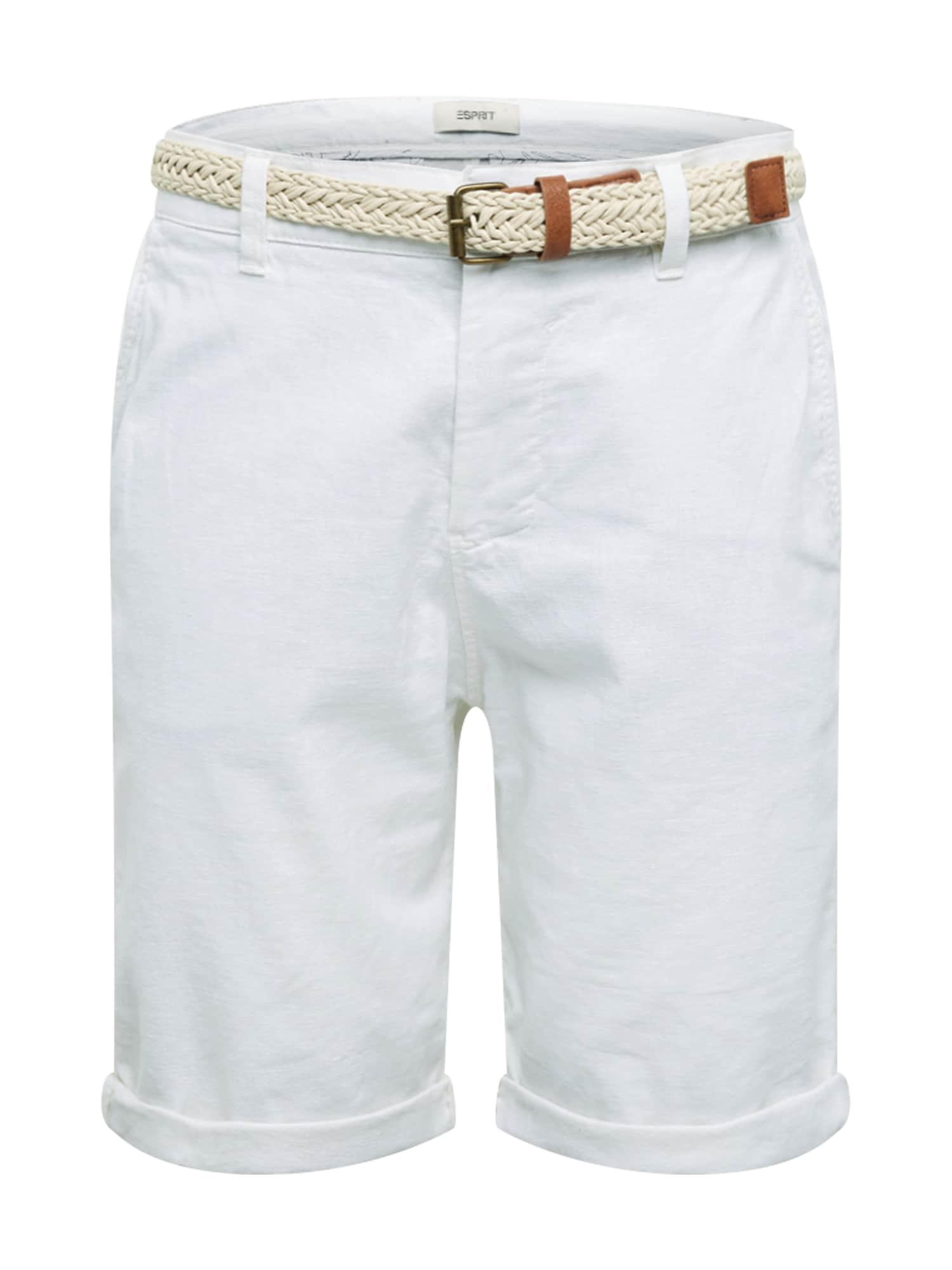 ESPRIT Chino stiliaus kelnės 'F BASIC CO/LI' balta