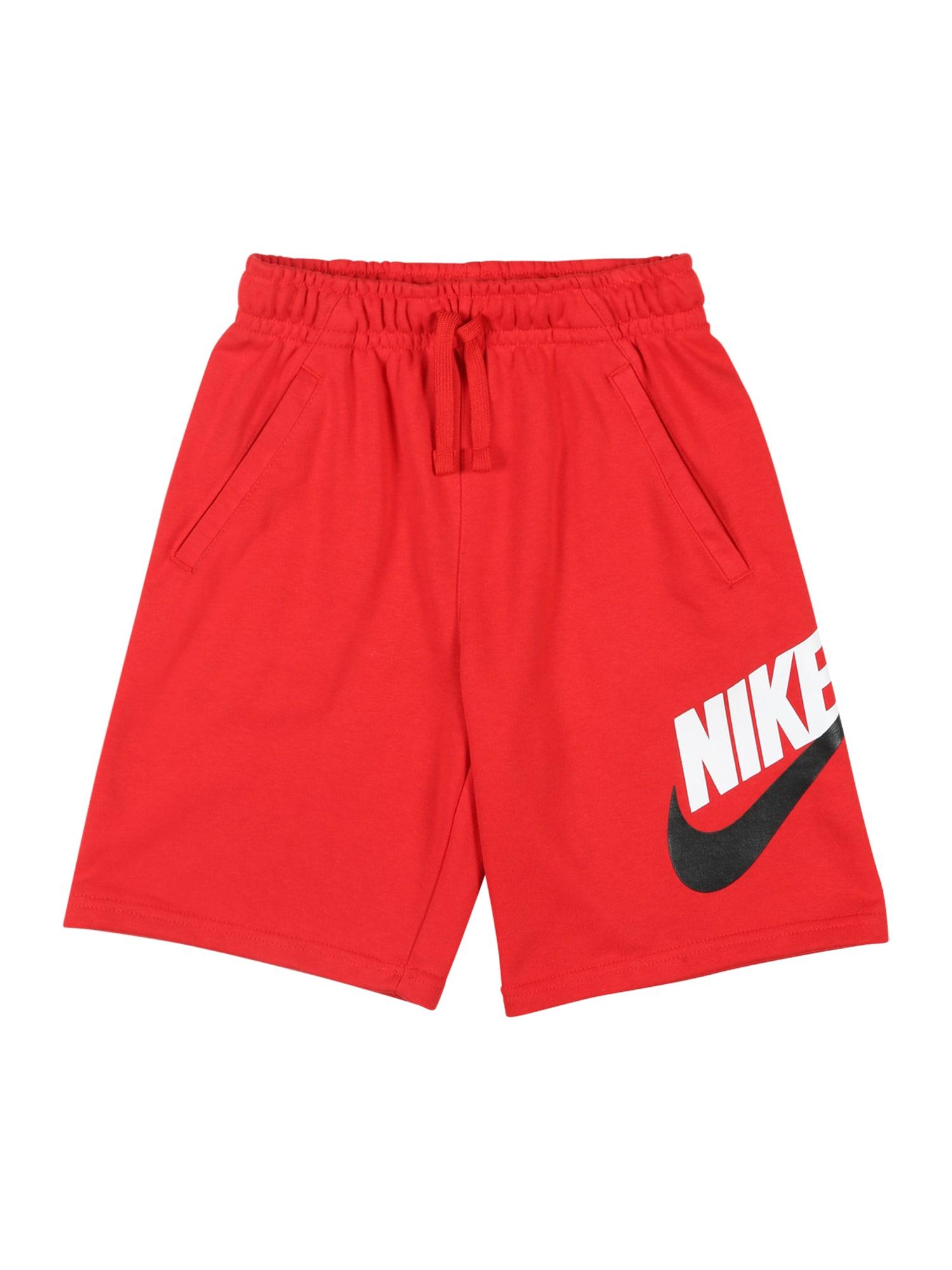 Nike Sportswear Kelnės 'B NSW CLUB + HBR SHORT FT' raudona