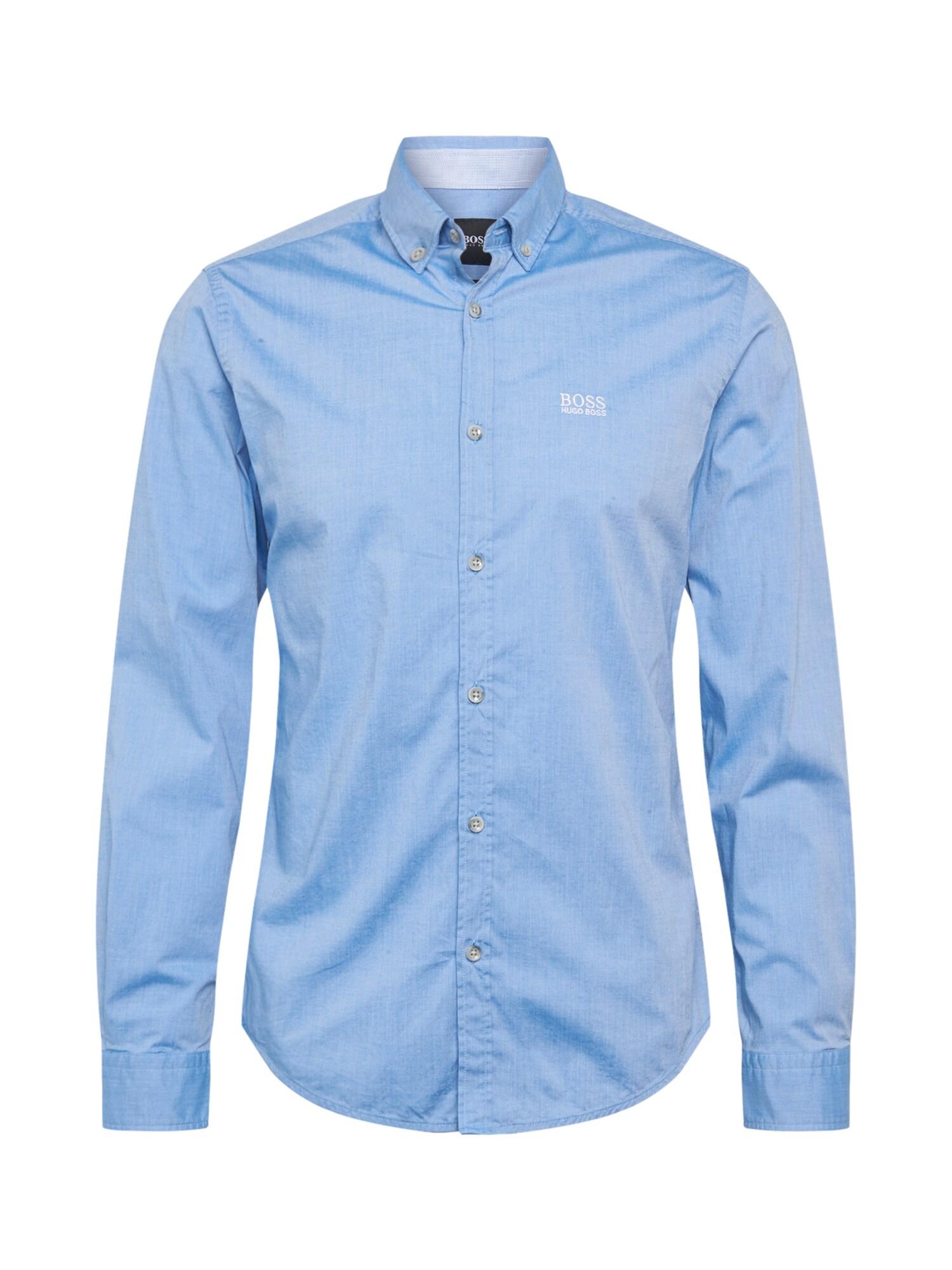 BOSS ATHLEISURE Dalykiniai marškiniai mėlyna