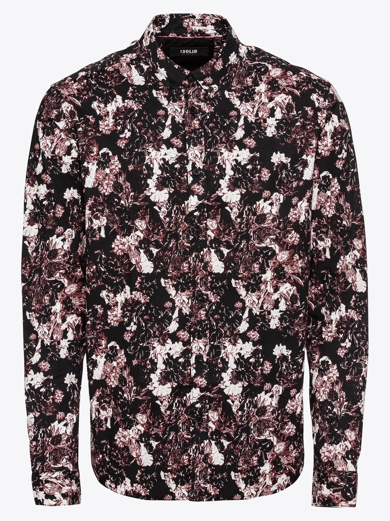 Heren Overhemd Zwart.Solid Heren Overhemd Shirt Juan Flower 3 Rood Zwart Wit Shop Via