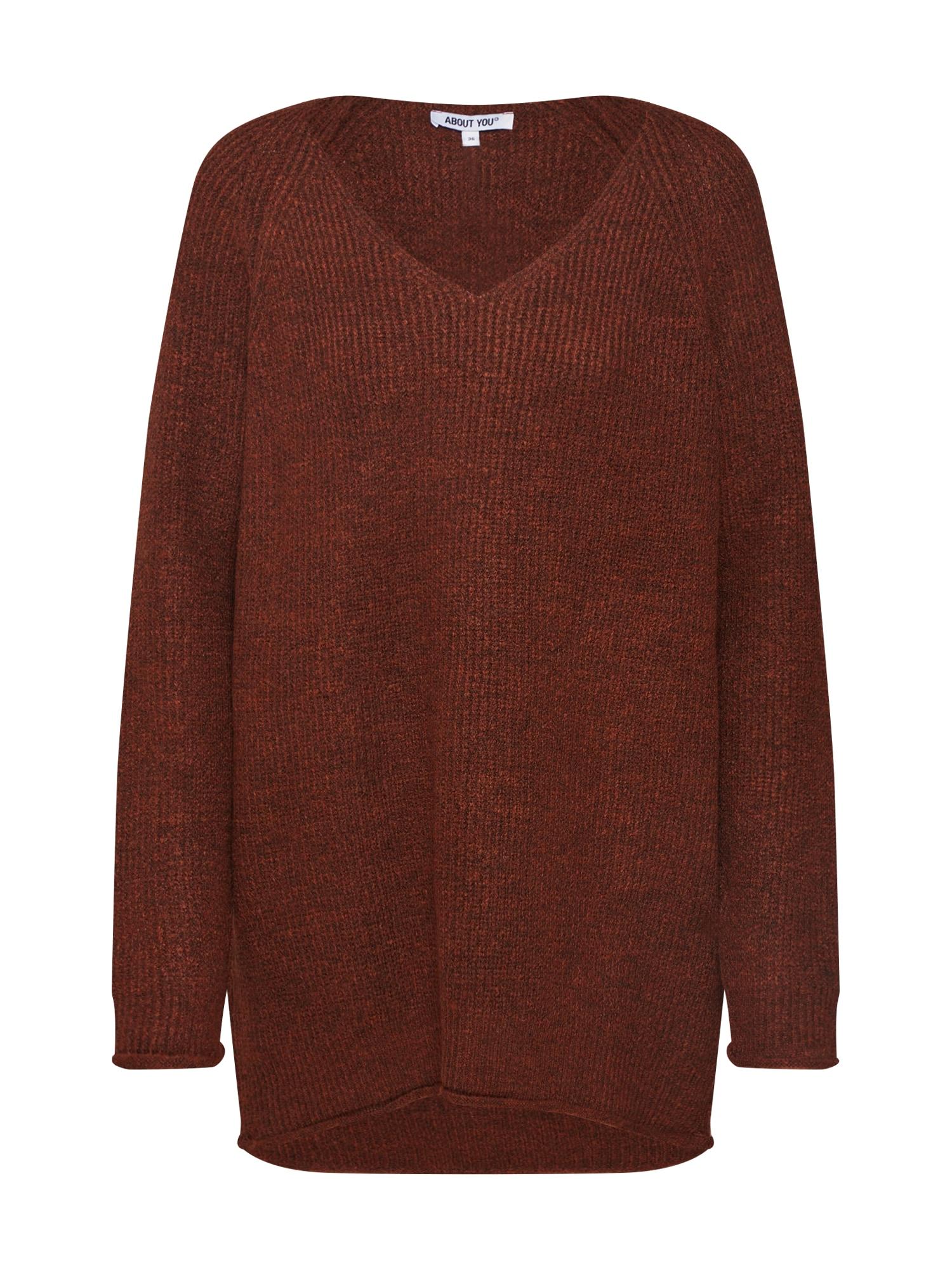 ABOUT YOU Megztinis 'Laren' rusva