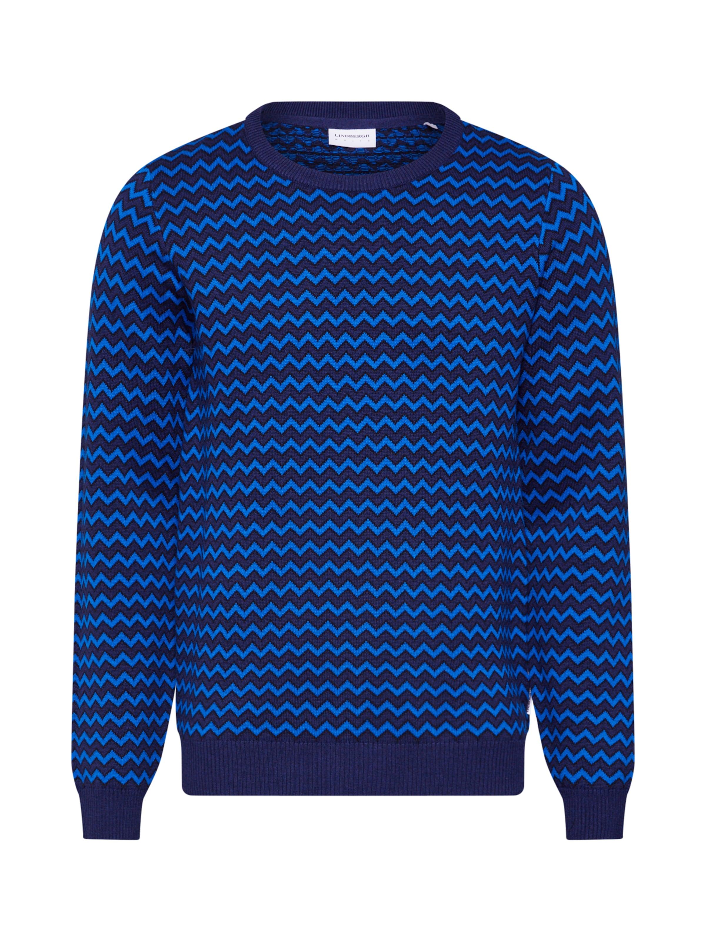 Herren lindbergh Pullover blau | 05714390546097