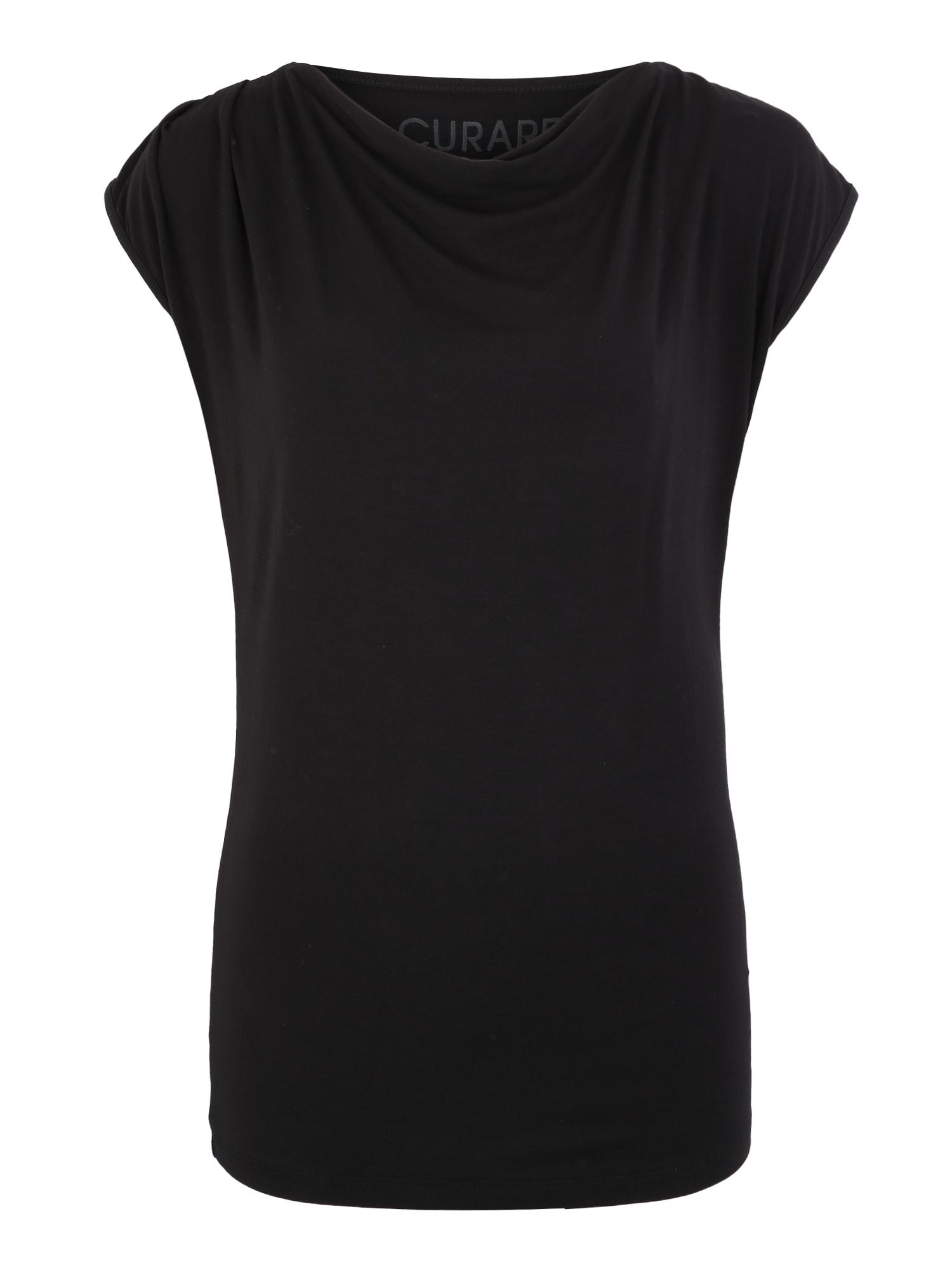 Funkční tričko top wasserfall černá CURARE Yogawear