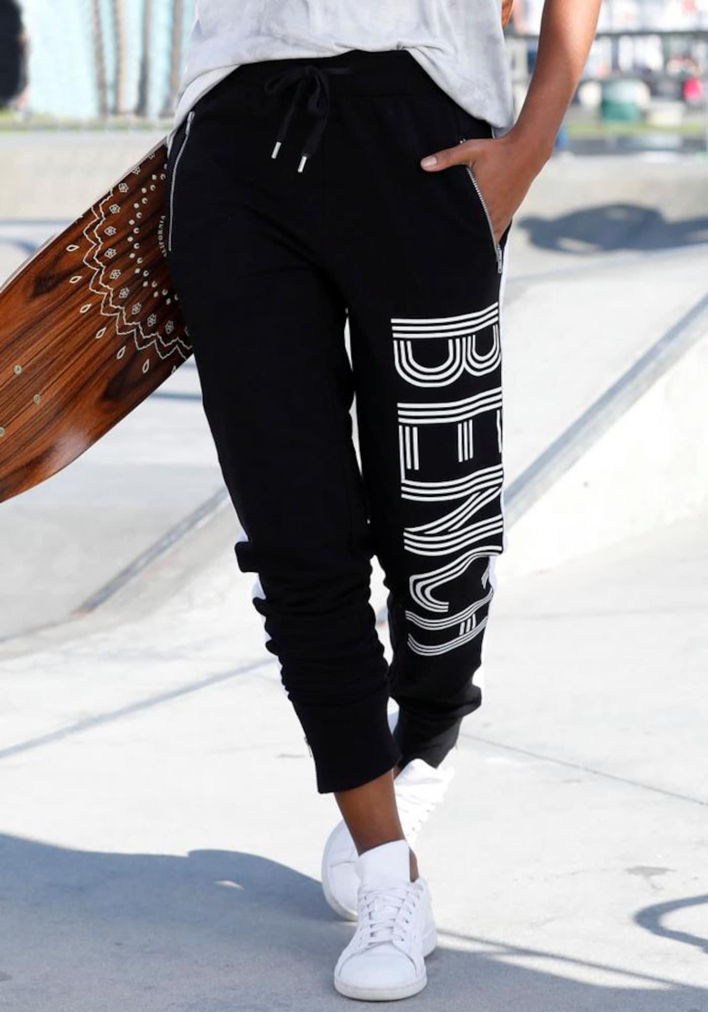 BENCH Kelnės juoda