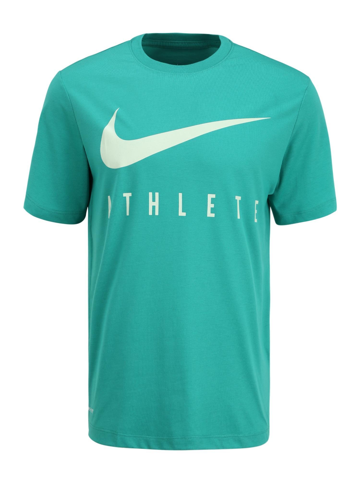 NIKE Funkčné tričko 'ATHLETE'  biela / zelená