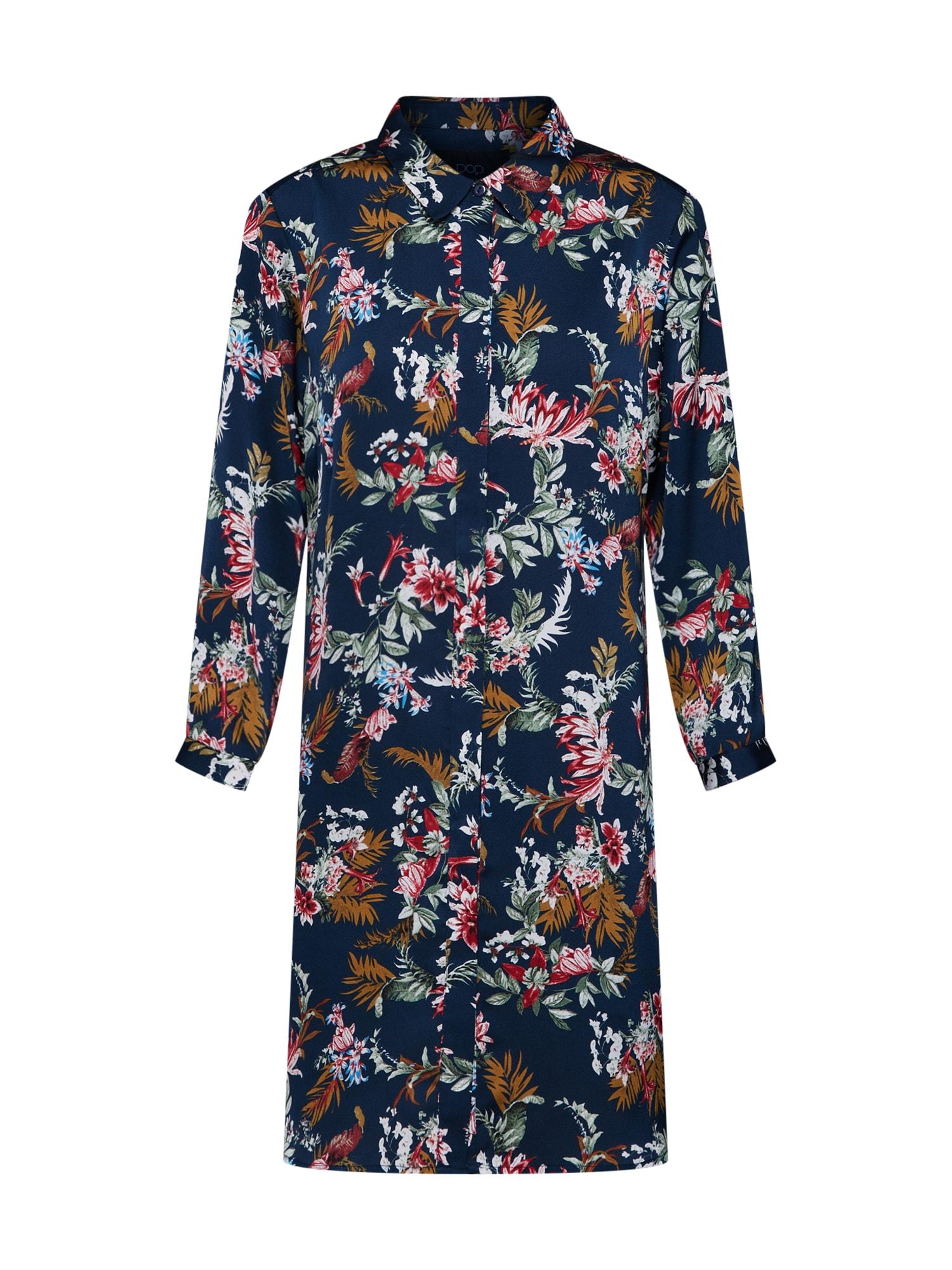 Košilové šaty Bloom námořnická modř mix barev Pop Copenhagen