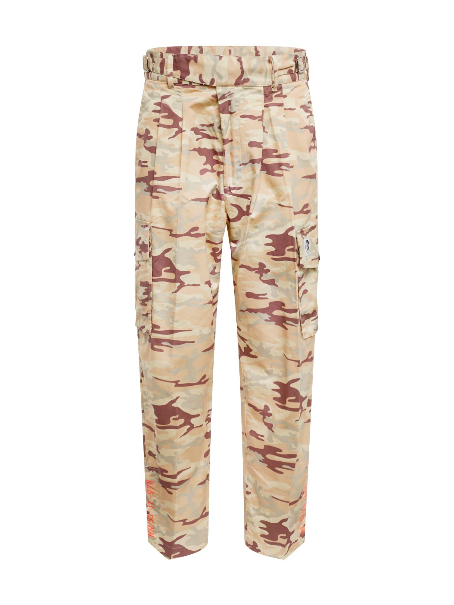 DIESEL Laisvo stiliaus kelnės 'P-Coole' ruda / smėlio
