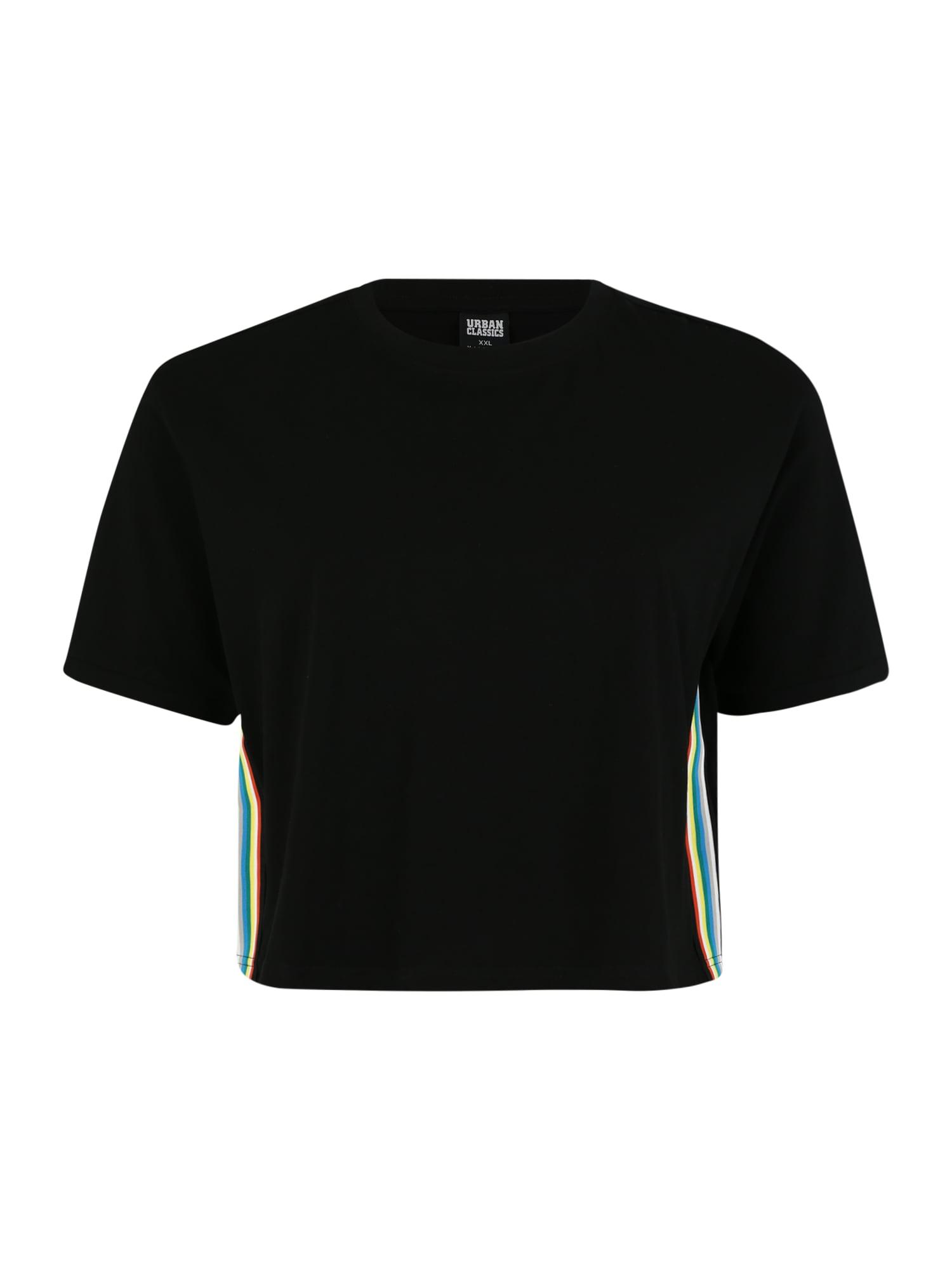 Urban Classics Curvy Tričko  zmiešané farby / čierna