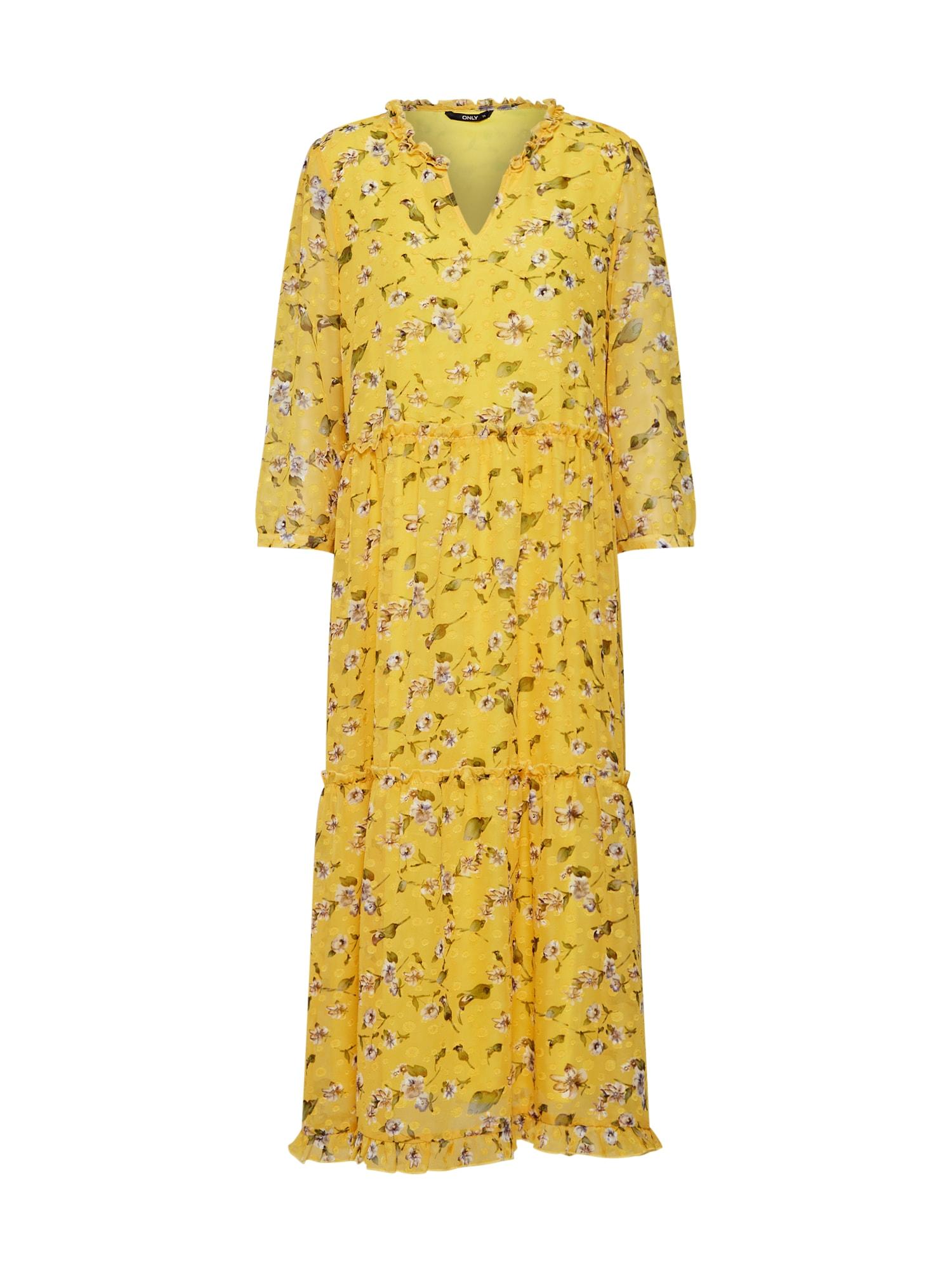 Šaty HANNAH žlutá ONLY