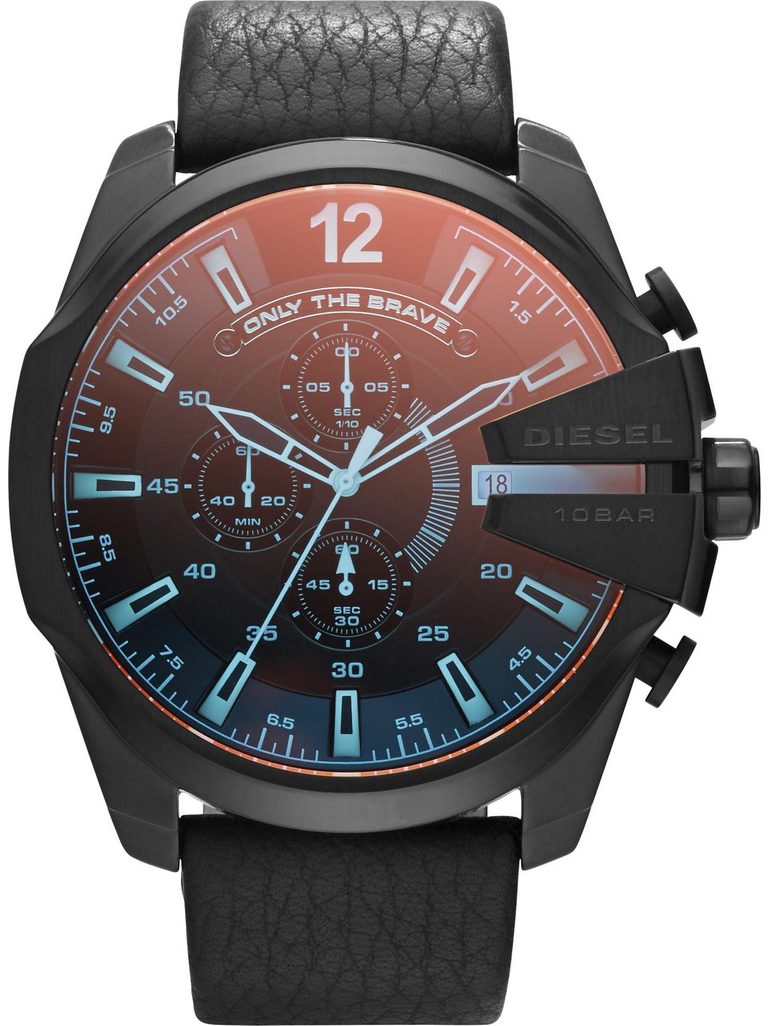 DIESEL Analoginis (įprasto dizaino) laikrodis mėlyna / raudona / juoda