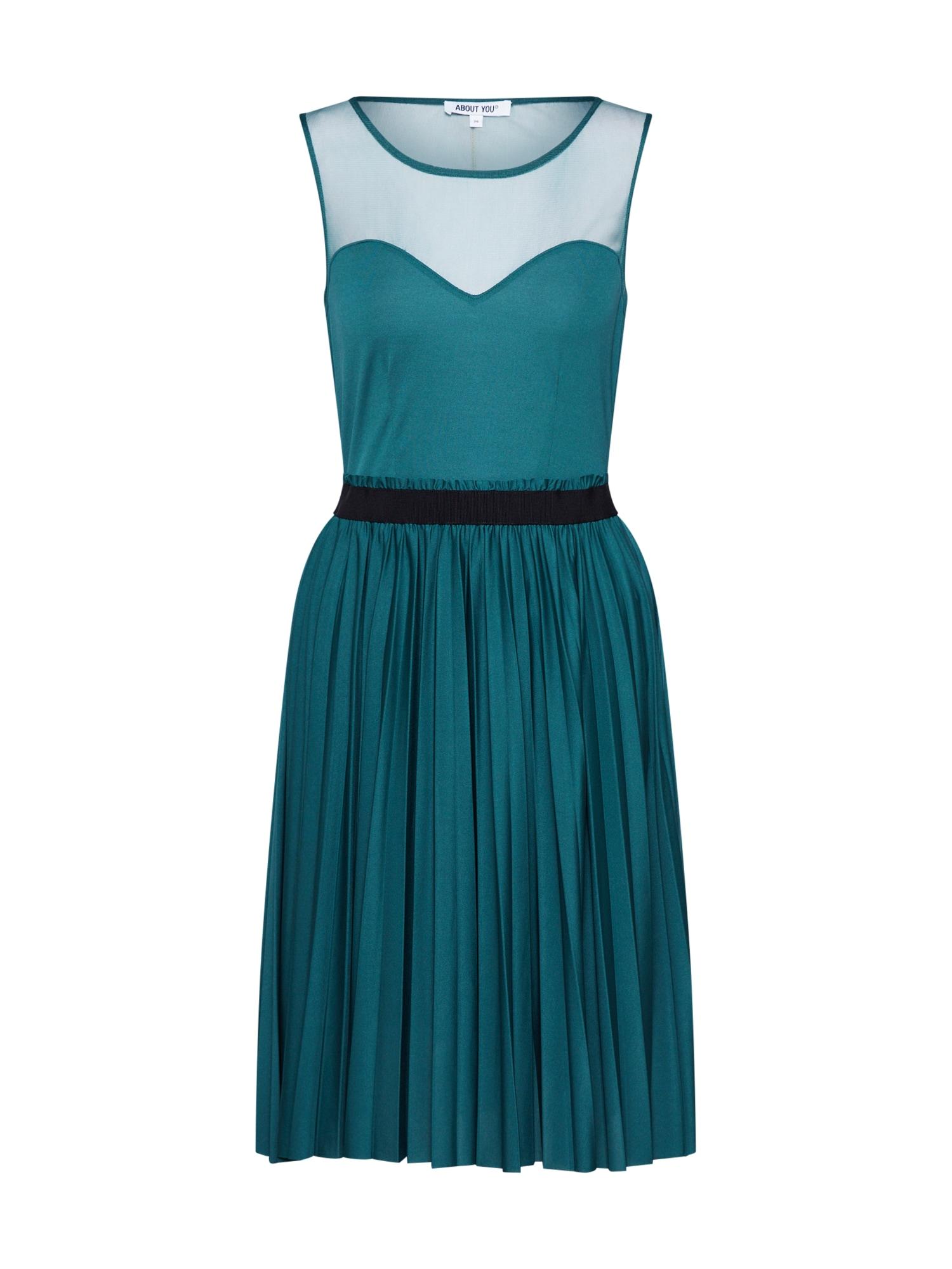ABOUT YOU Kokteilinė suknelė 'Ragna' smaragdinė spalva
