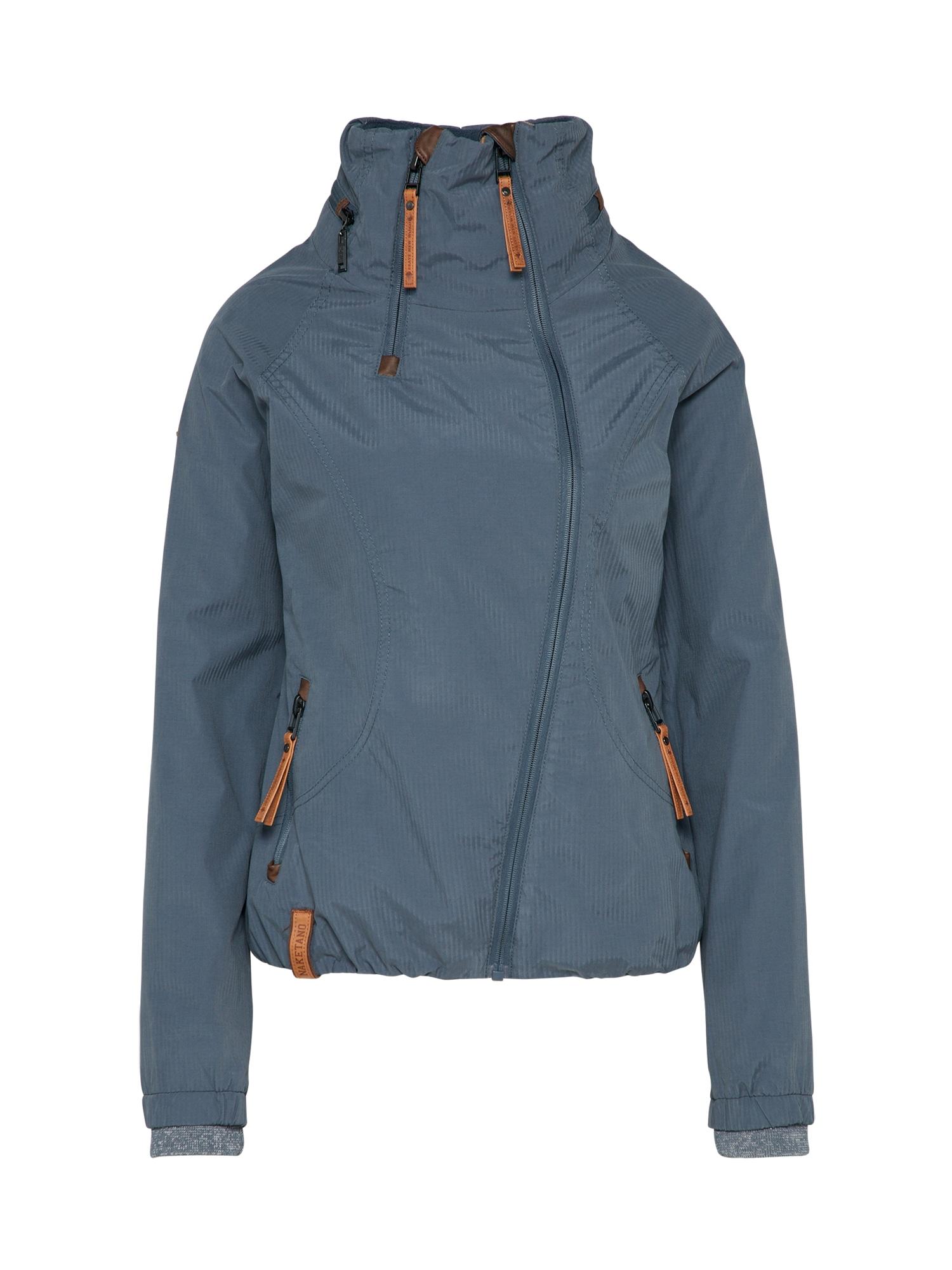 naketano Prechodná bunda 'Forrester'  modré / sivá melírovaná