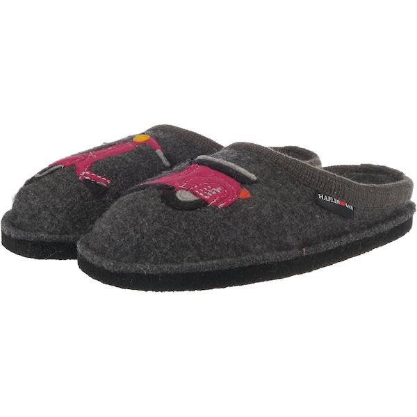 Hausschuhe für Frauen - HAFLINGER Pantoffeln 'Flair Vespa' dunkelgrau pink  - Onlineshop ABOUT YOU