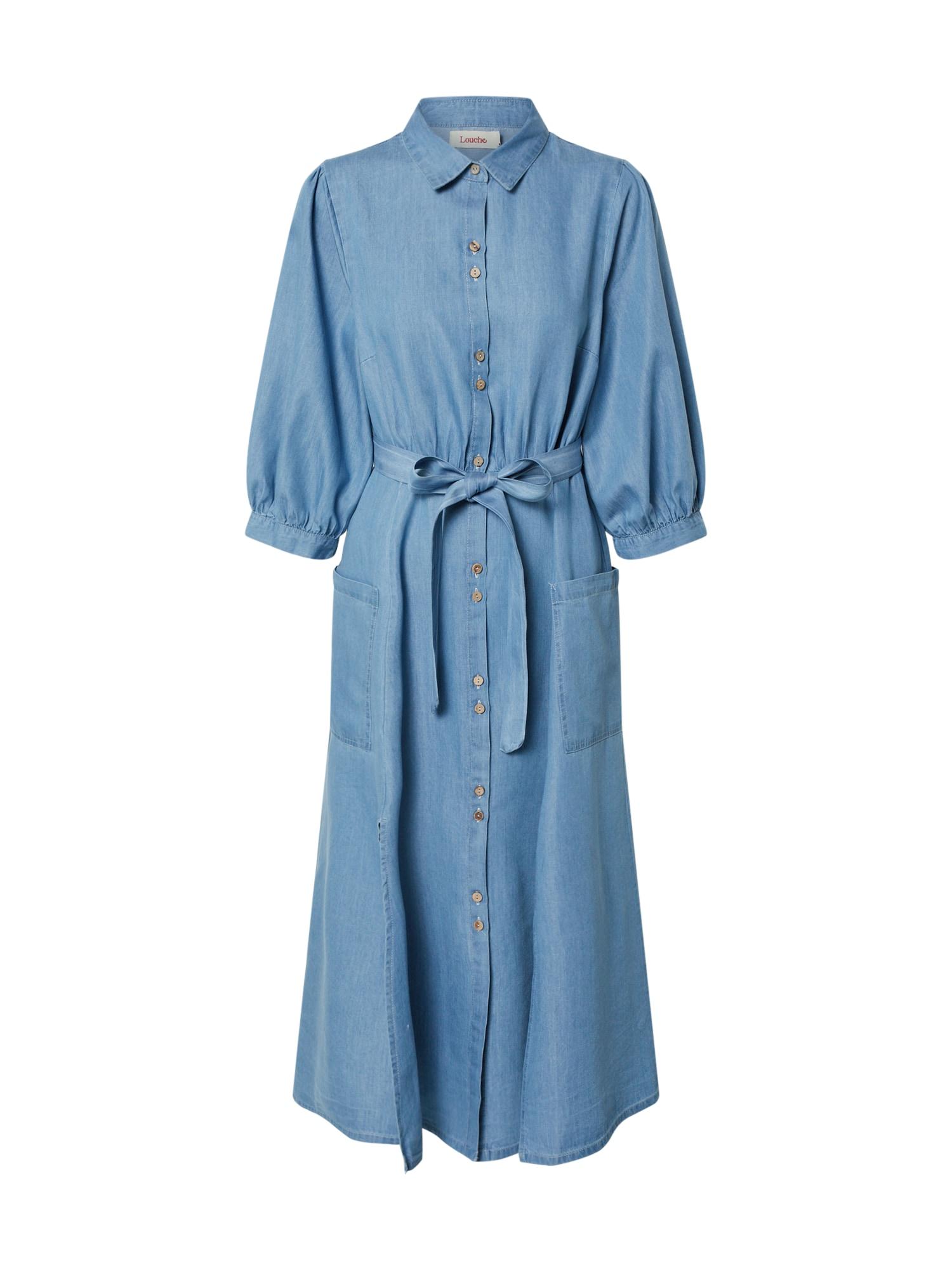 Louche Suknelė 'LILWENN CHAMBRAY' tamsiai (džinso) mėlyna / šviesiai mėlyna