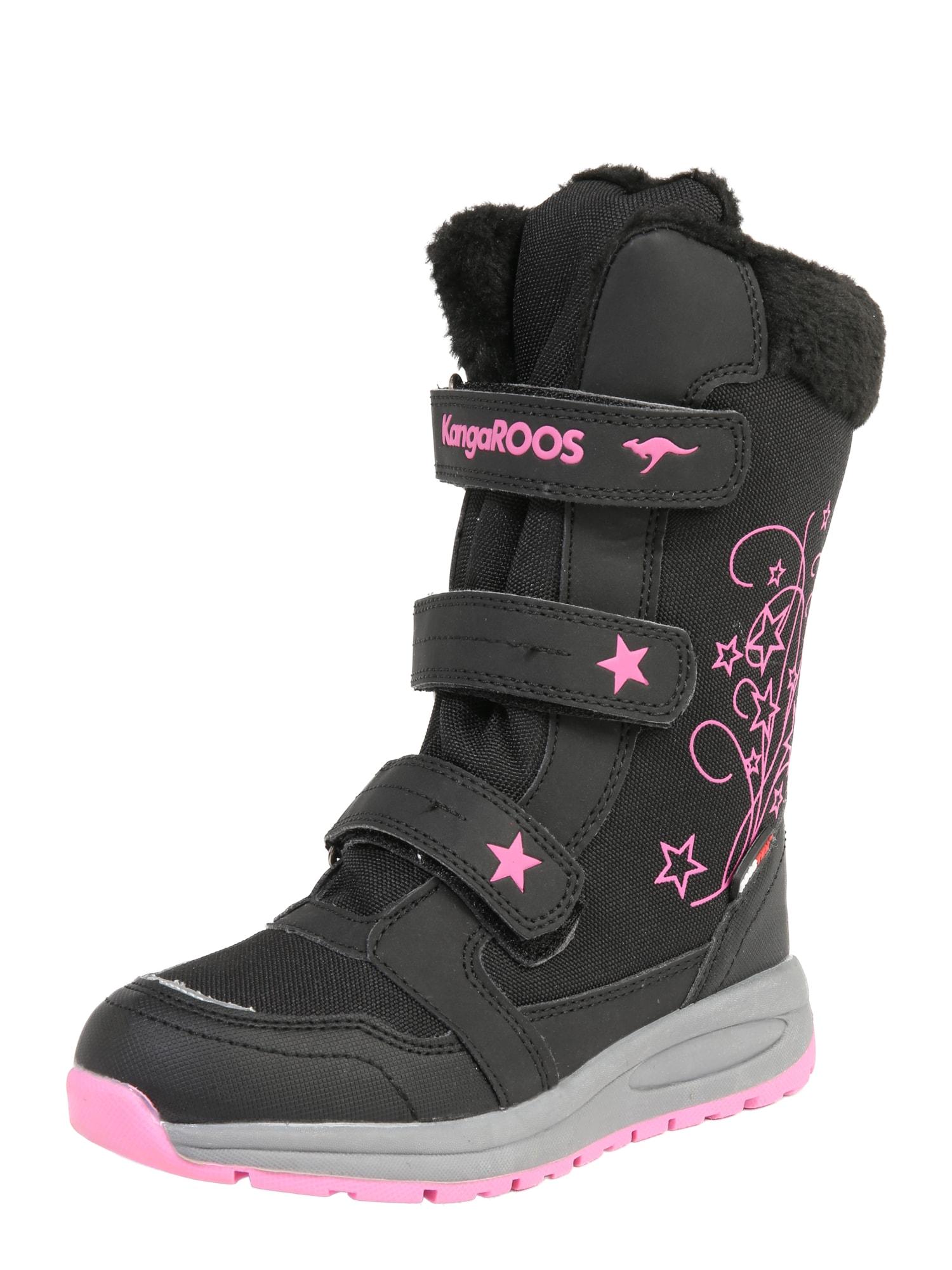 KangaROOS Sniego batai 'K-Star Boot RTX' rožinė / juoda
