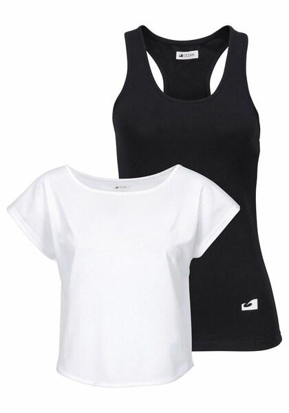 Sportmode für Frauen - OCEAN SPORTSWEAR Set T Shirt und Top schwarz weiß  - Onlineshop ABOUT YOU