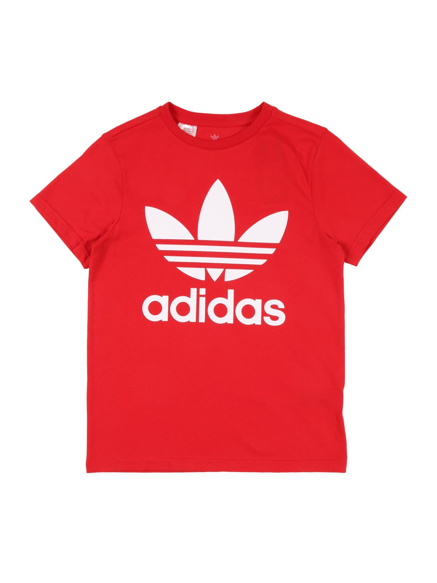 ADIDAS ORIGINALS Tričko 'Trefoil'  červené