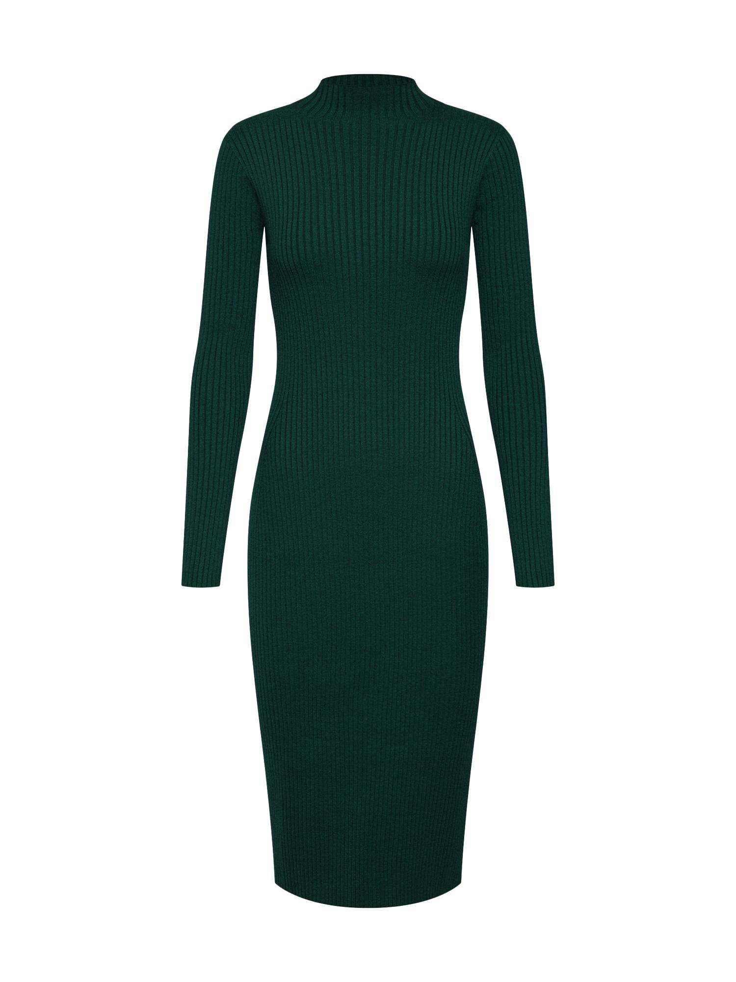 EDITED Megzta suknelė 'Hada' žalia / tamsiai žalia