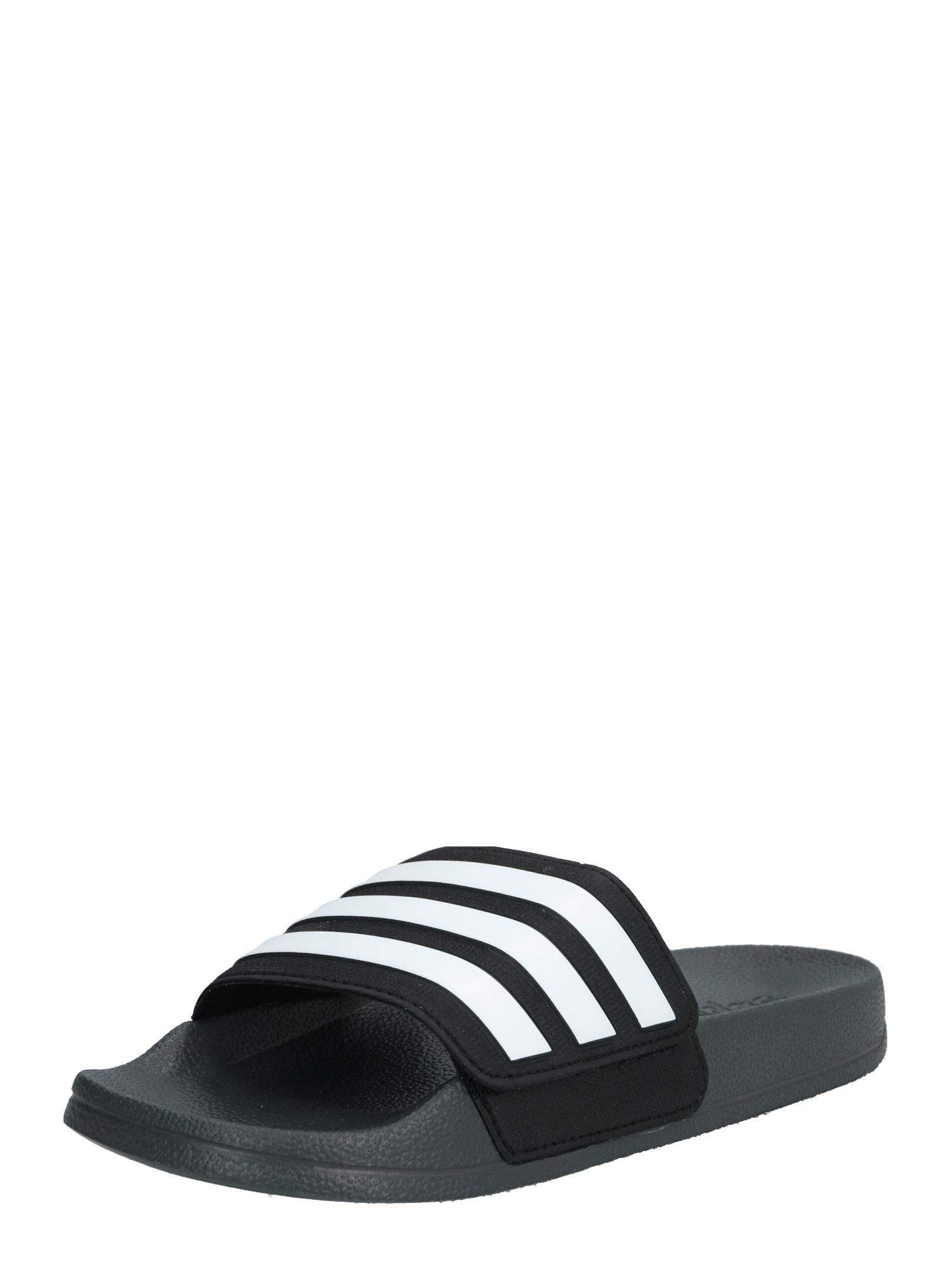 ADIDAS PERFORMANCE Sportiniai batai 'ADILETTE SHOWER ADJ' juoda / pilka / balta
