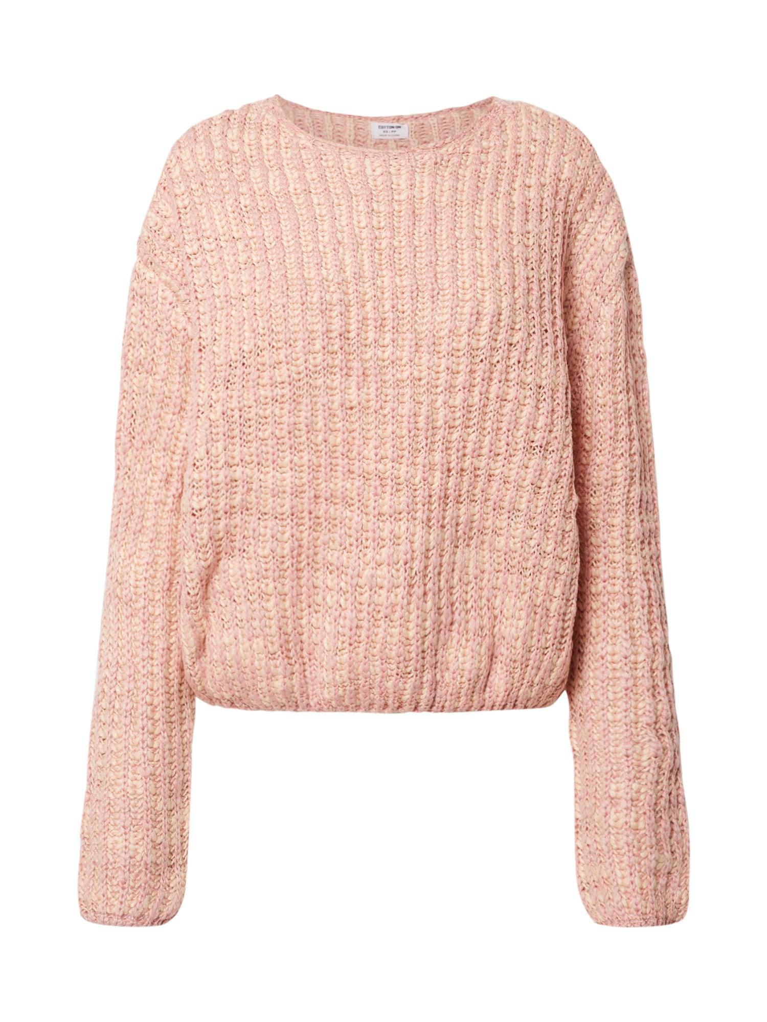 Cotton On Sveter 'THE LICORICE'  pieskový / rosé
