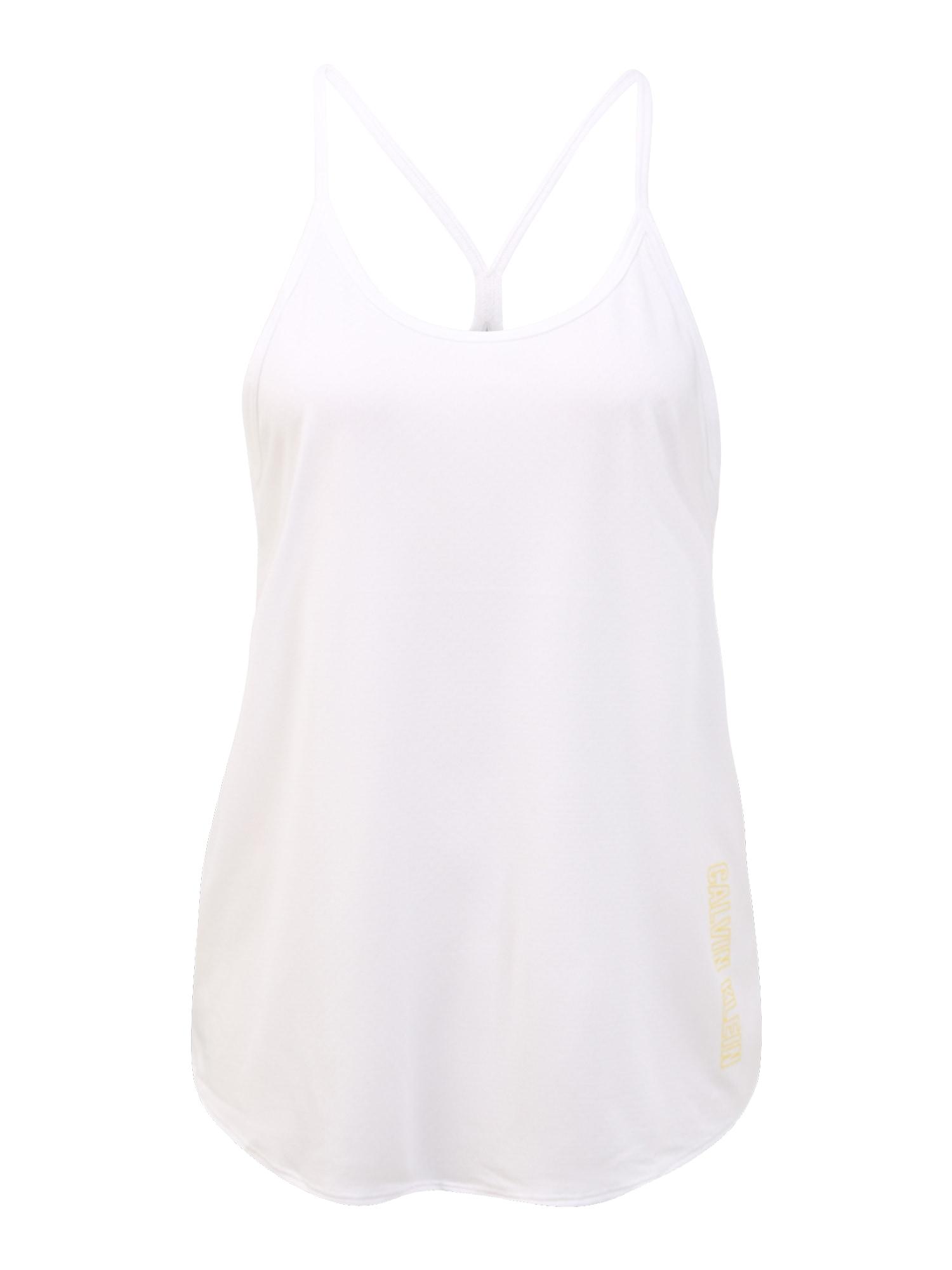 Calvin Klein Performance Sportiniai marškinėliai be rankovių balta