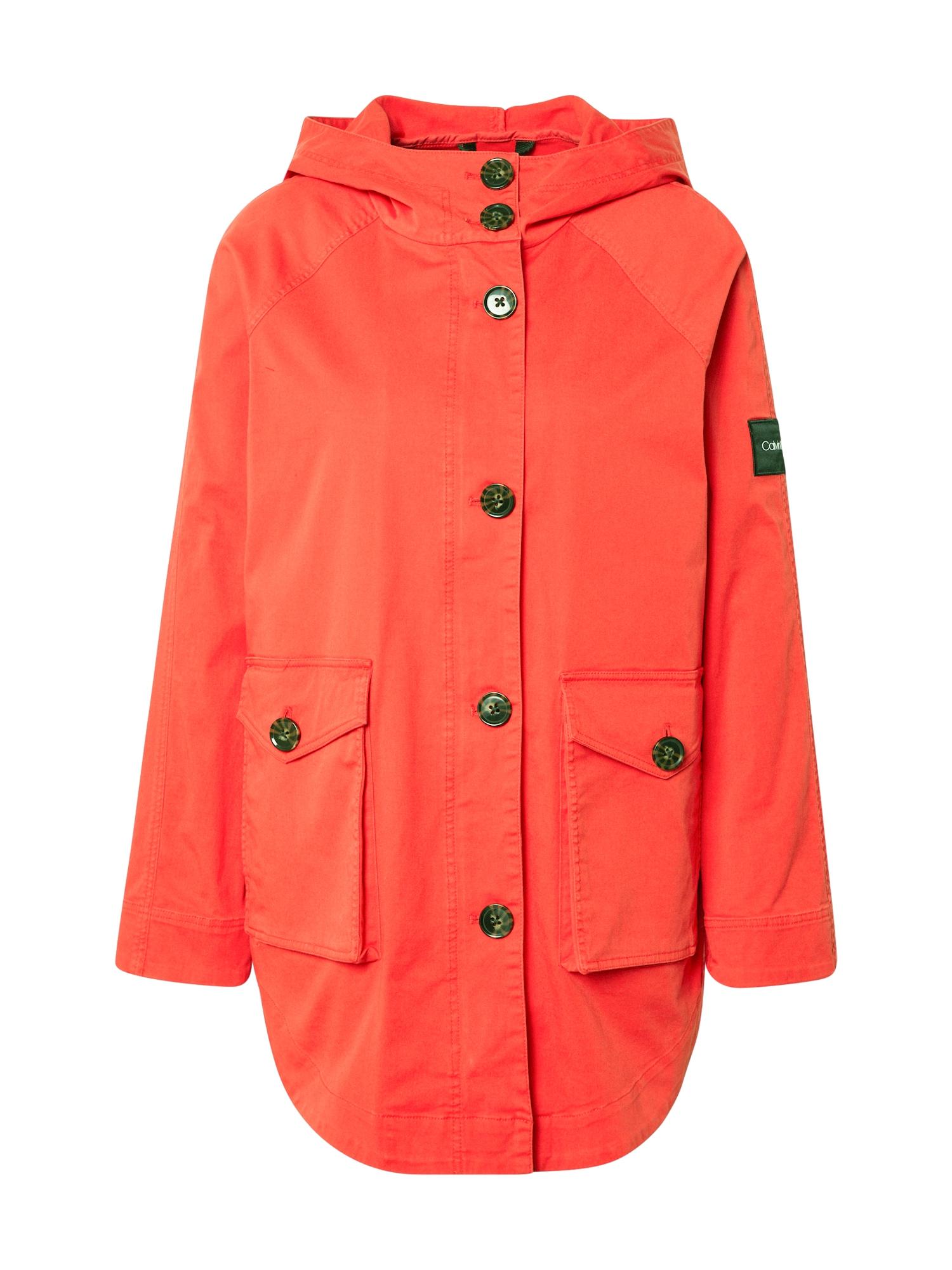 Calvin Klein Ilga rudeninė-žieminė striukė raudona