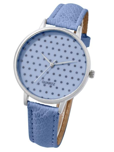 Uhren für Frauen - Heine Armbanduhr mit Pünktchenmuster royalblau  - Onlineshop ABOUT YOU
