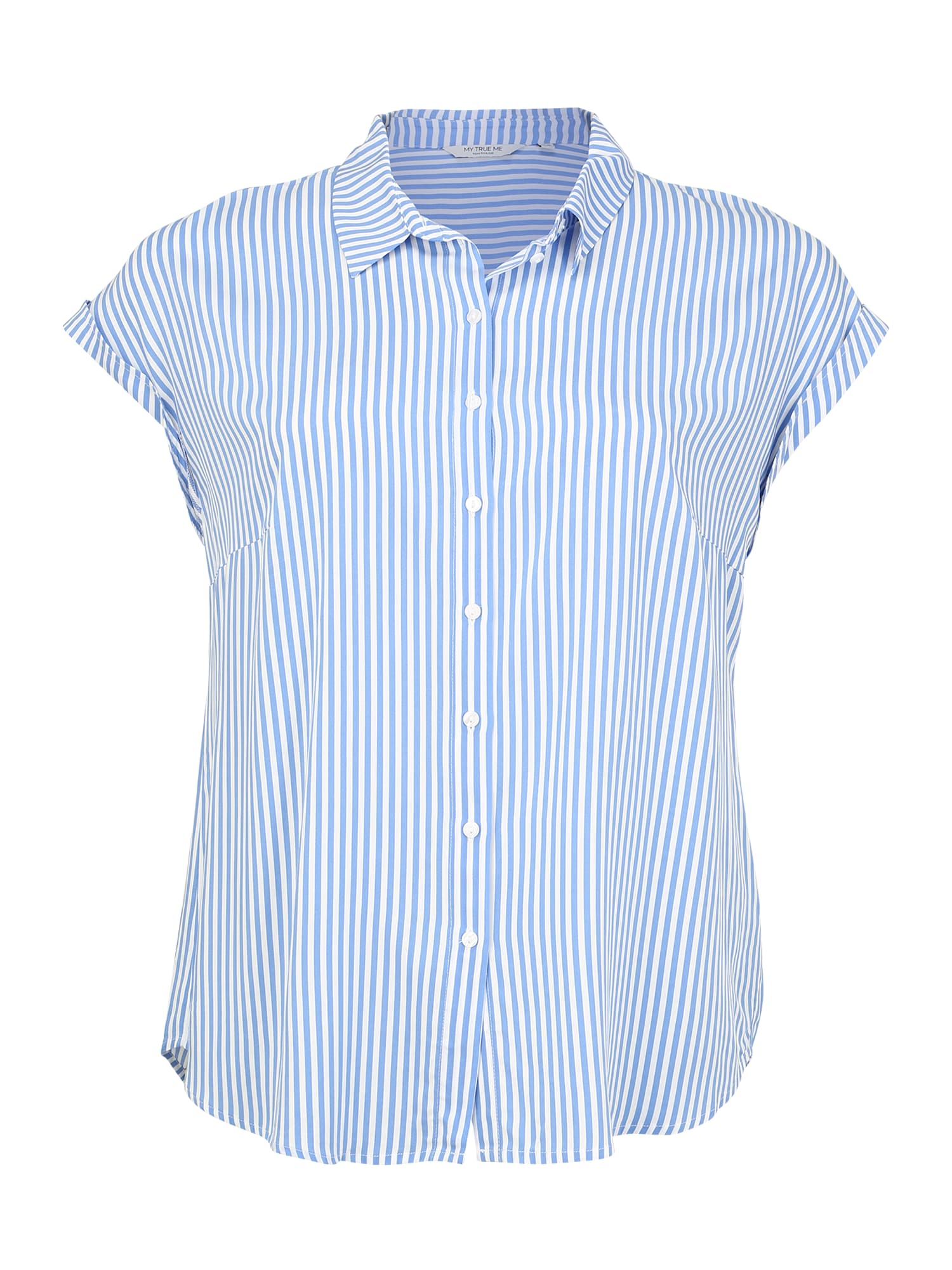 MY TRUE ME Marškinėliai 'Short drop sleeve shirt' mėlyna