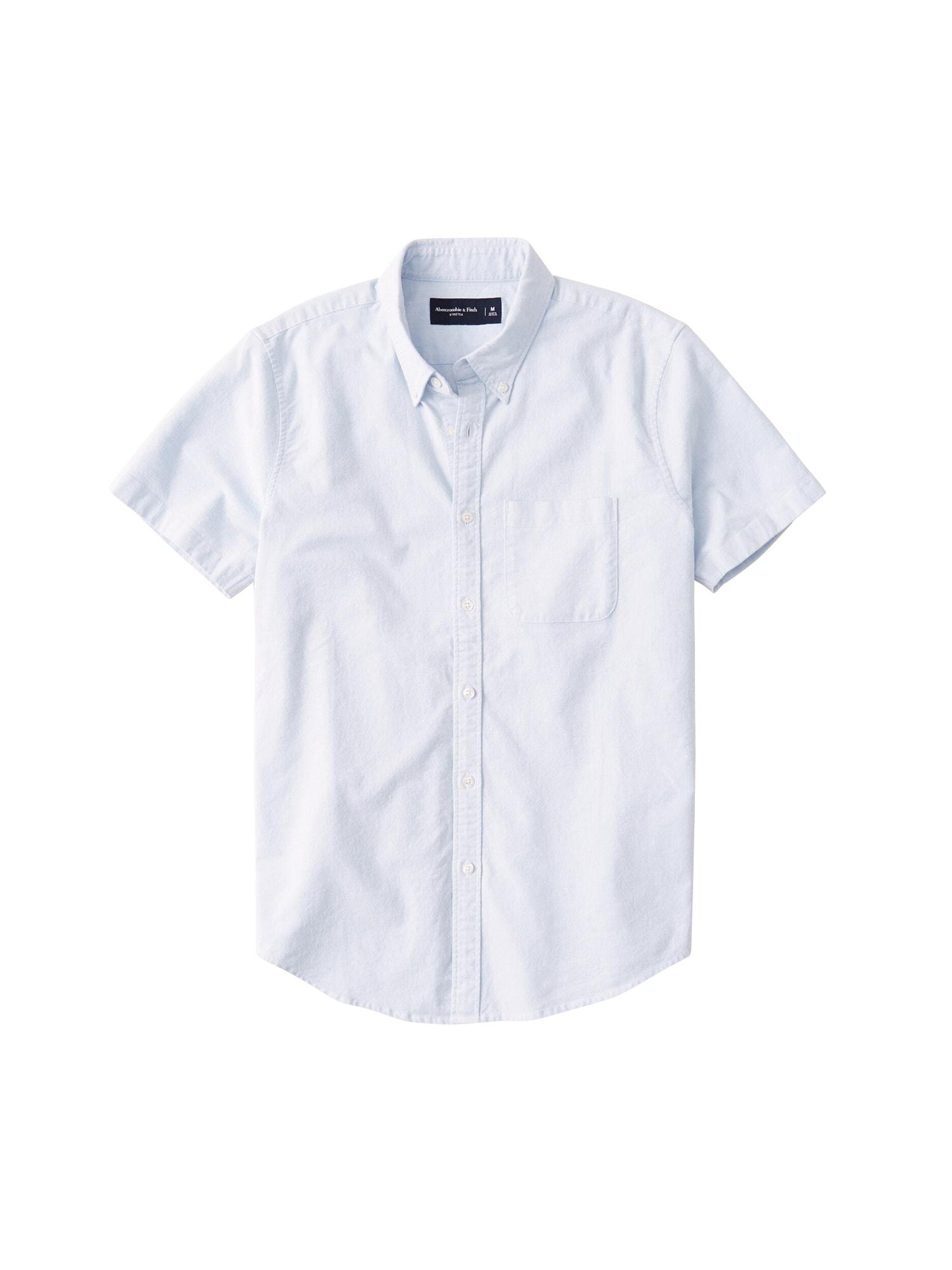 Abercrombie & Fitch Dalykiniai marškiniai 'SHORT SLEEVE CLASSICS' mėlyna