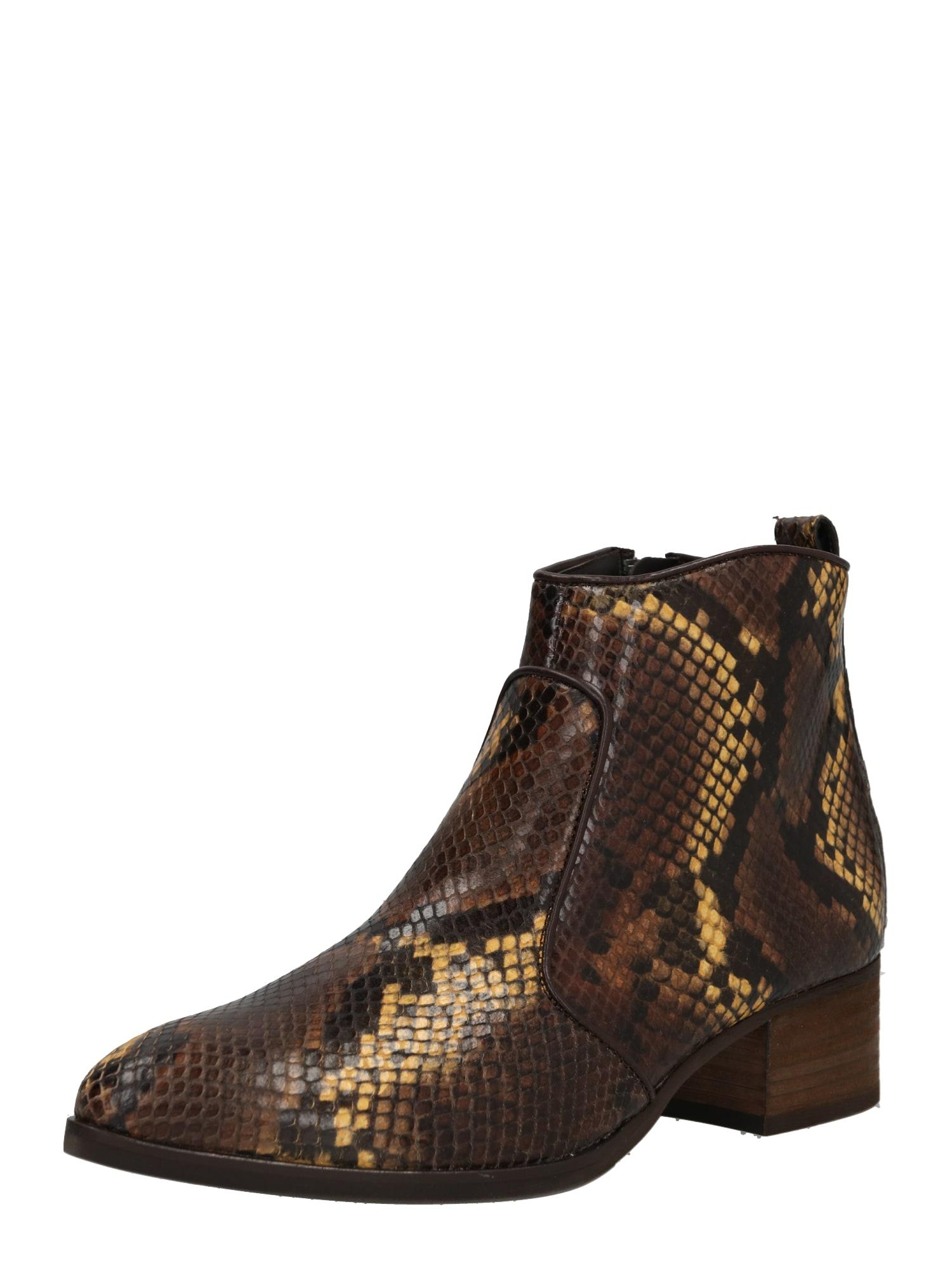 Kotníkové boty zlatá černá Paul Green