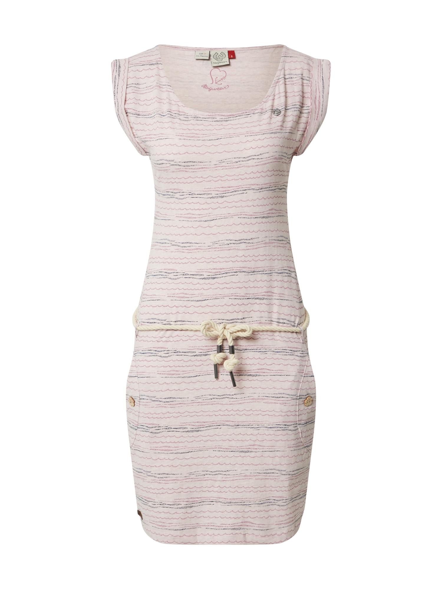 Ragwear Vasarinė suknelė 'Tag Sea' tamsiai pilka / rožinė / rožių spalva