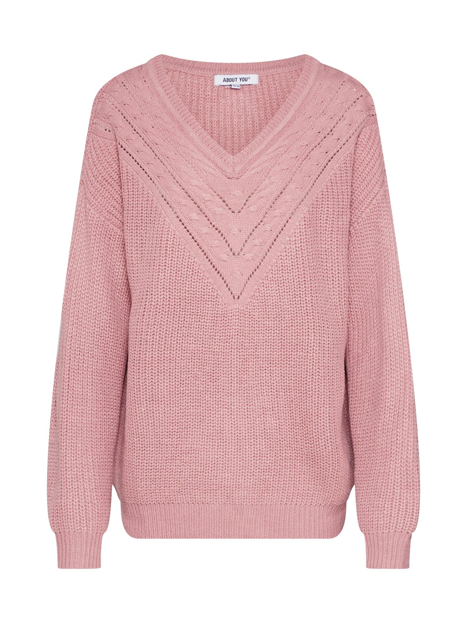 ABOUT YOU Megztinis 'Emilia' rožių spalva