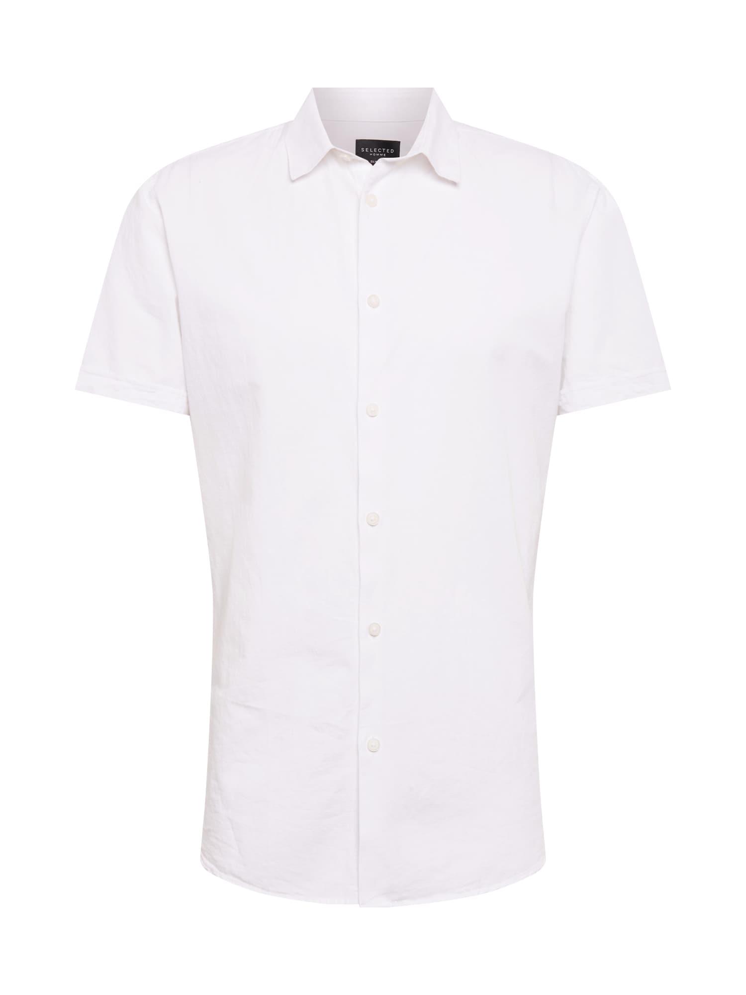 Košile SLHSlimlinen bílá SELECTED HOMME