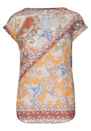 SEIDENSTICKER Damen Shirtbluse  Schwarze Rose blau,orange,rot,weiß | 04041215412468