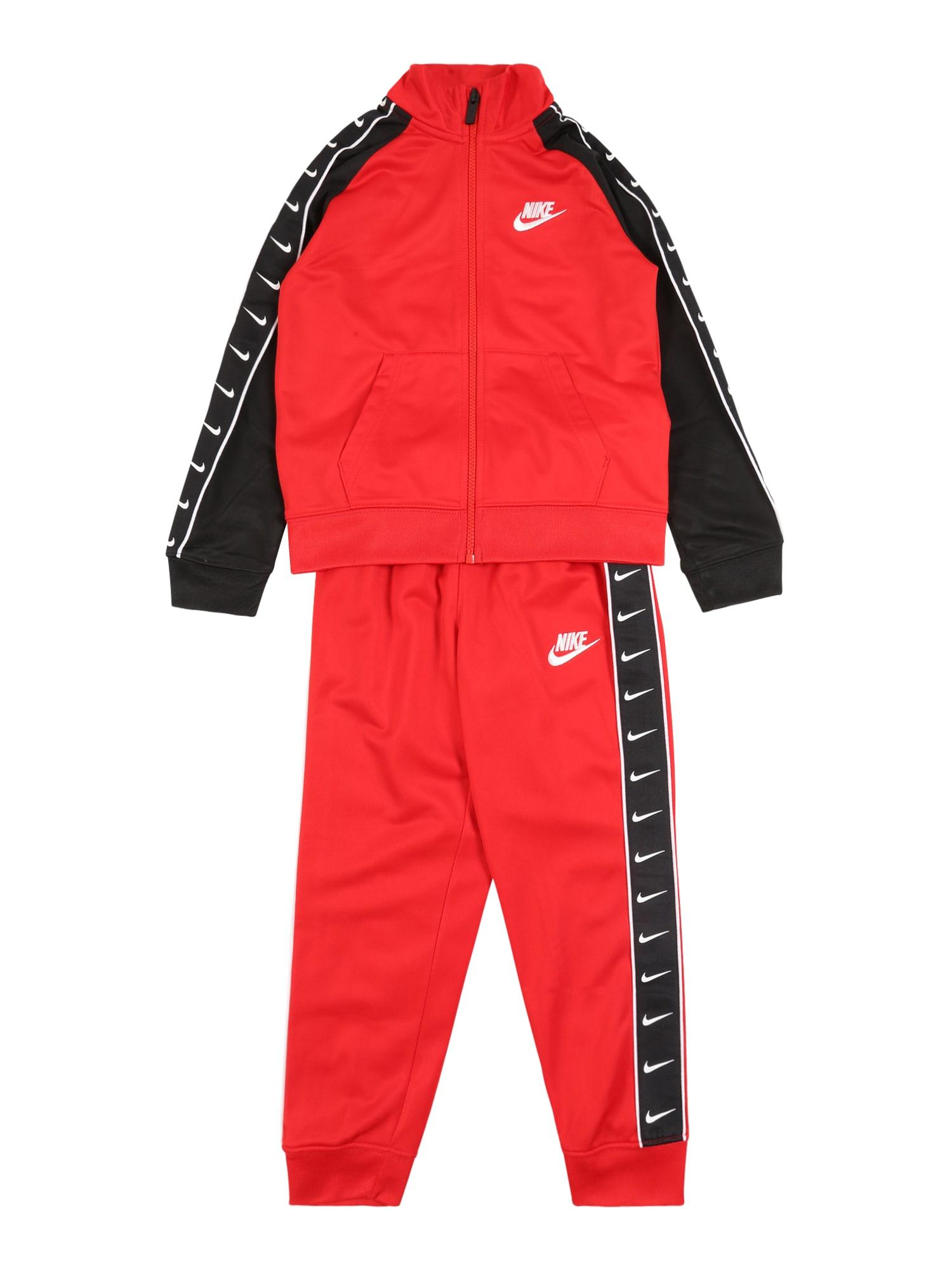 Nike Sportswear Kostiumas 'SWOOSH TRICOT TAPING SET' raudona