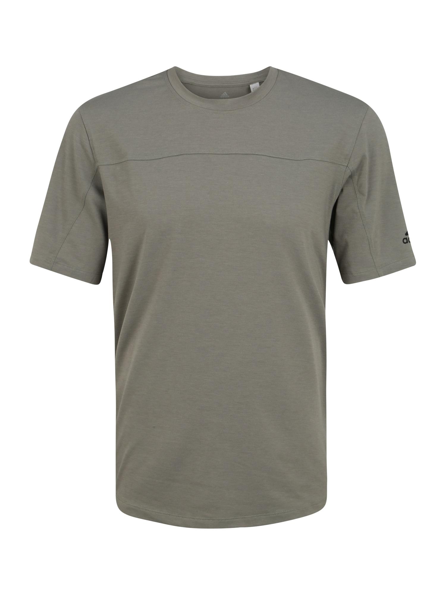 ADIDAS PERFORMANCE Sportiniai marškinėliai 'CITY BASE TEE' rusvai žalia