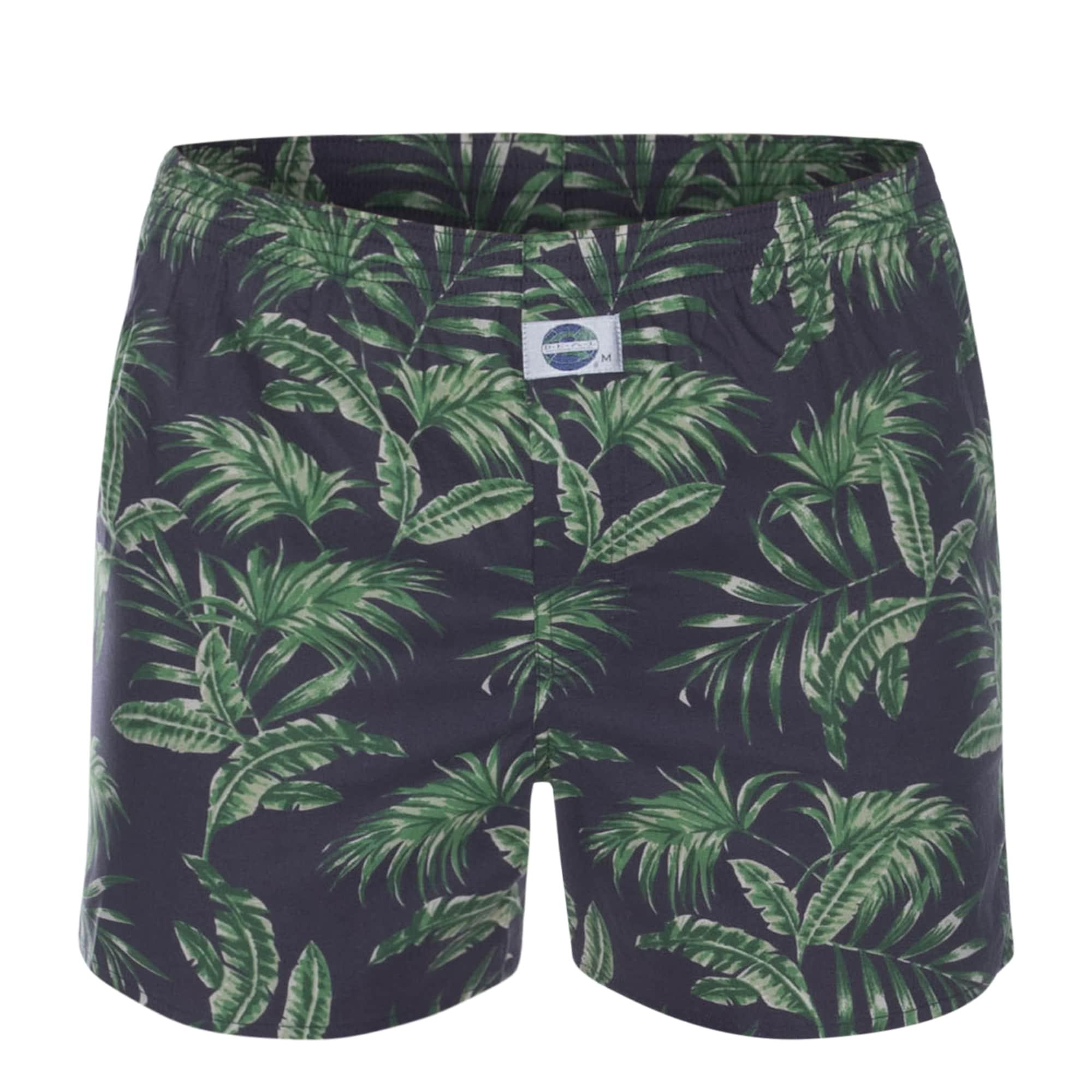 Boxerky Jungle  tmavě modrá trávově zelená D.E.A.L International